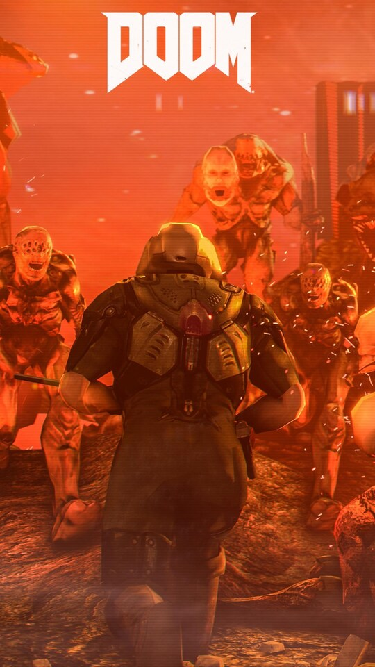 540x960 doom 4 digital art 540x960 resolution hd 4k