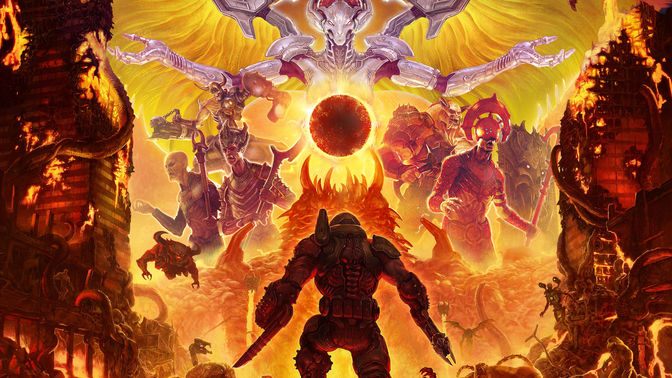 2560x1440 Doom Eternal 2019 1440P Resolution HD 4k ...
