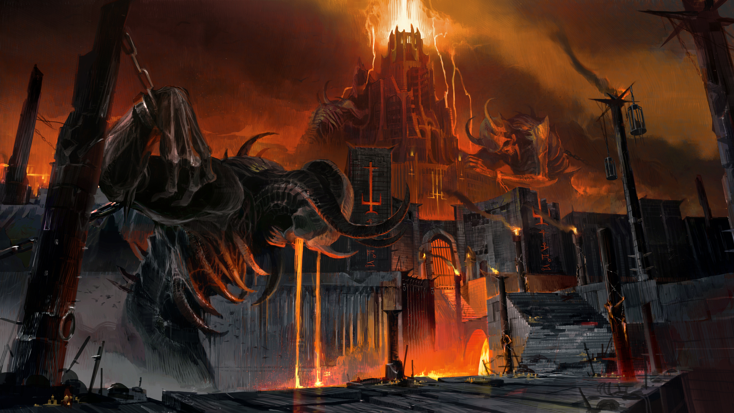 2560x1440 Doom Eternal Artwork 1440p Resolution Hd 4k Wallpapers