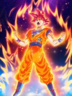 240x320 Dragon Ball Z Goku Nokia 230 Nokia 215 Samsung Xcover 550