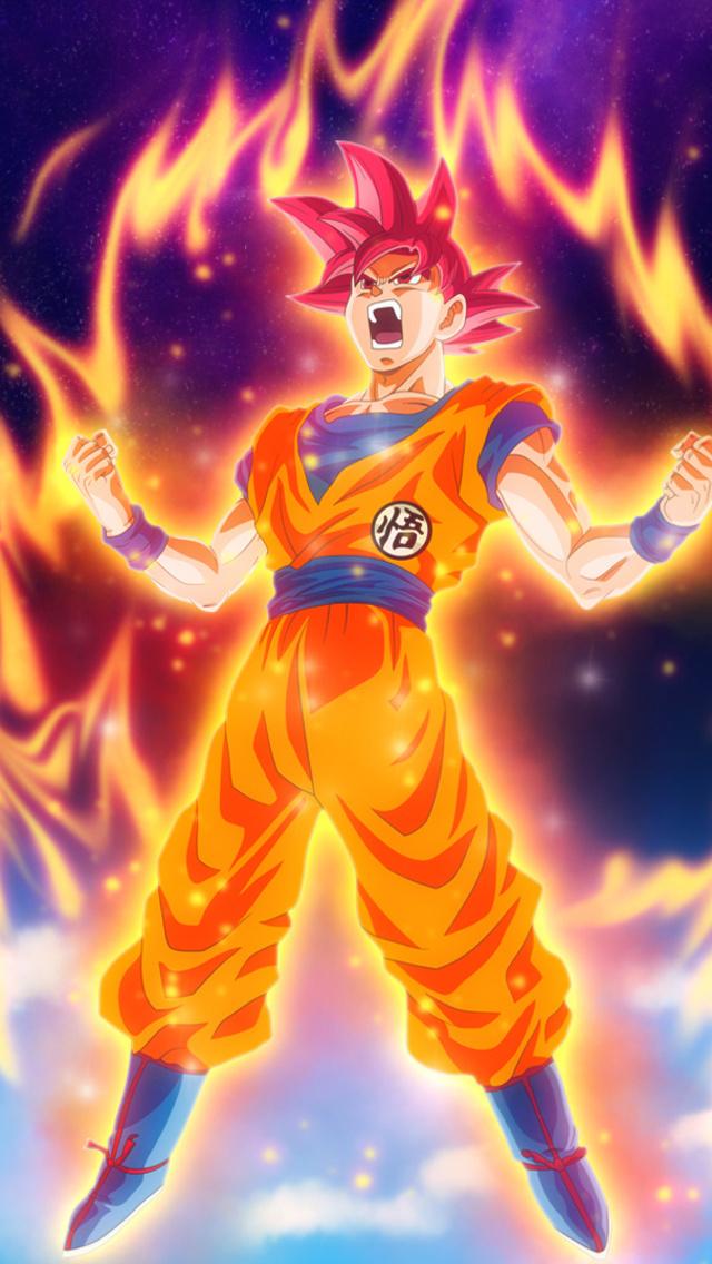 640x1136 Dragon Ball Z Goku Iphone 5 5c 5s Se Ipod Touch Hd 4k