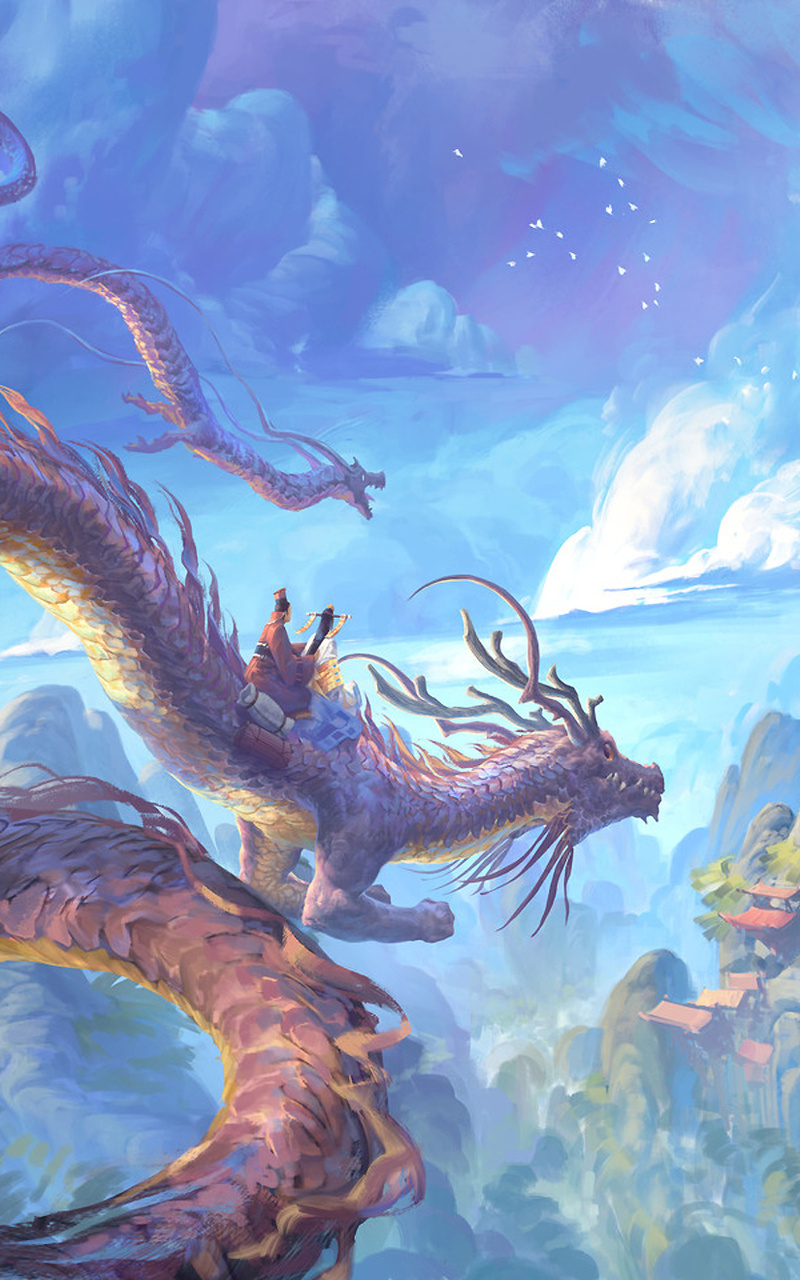 dragon cloud fantasy mountain temple 7s