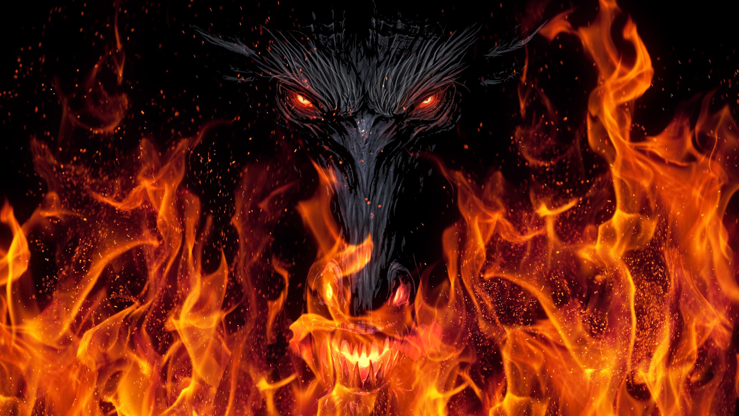 2560x1440 dragon demon devil 5k 1440p resolution hd 4k - Demon wallpaper 4k ...