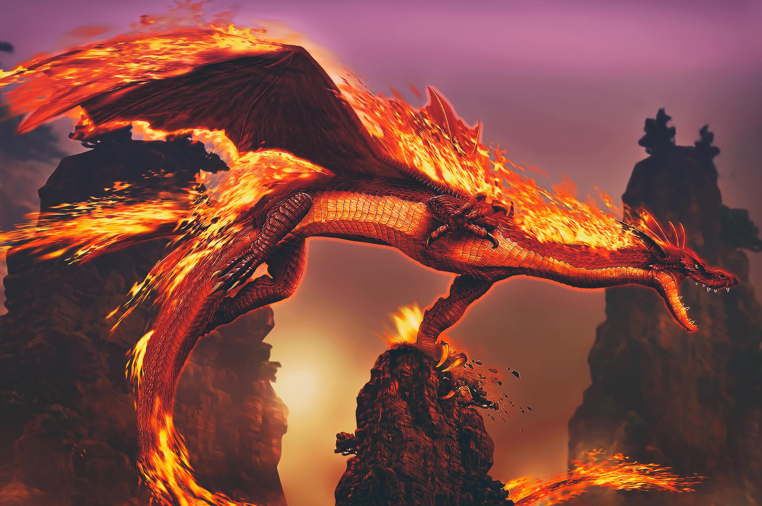 2560x1700 Dragon Fire 4k Chromebook Pixel HD 4k Wallpapers ...