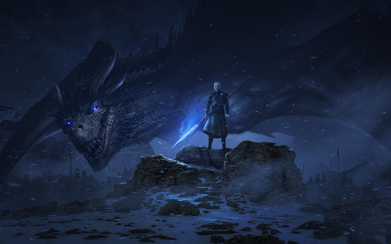 2880x1800 Dragon Night King Game Of Thrones Season 8 Macbook