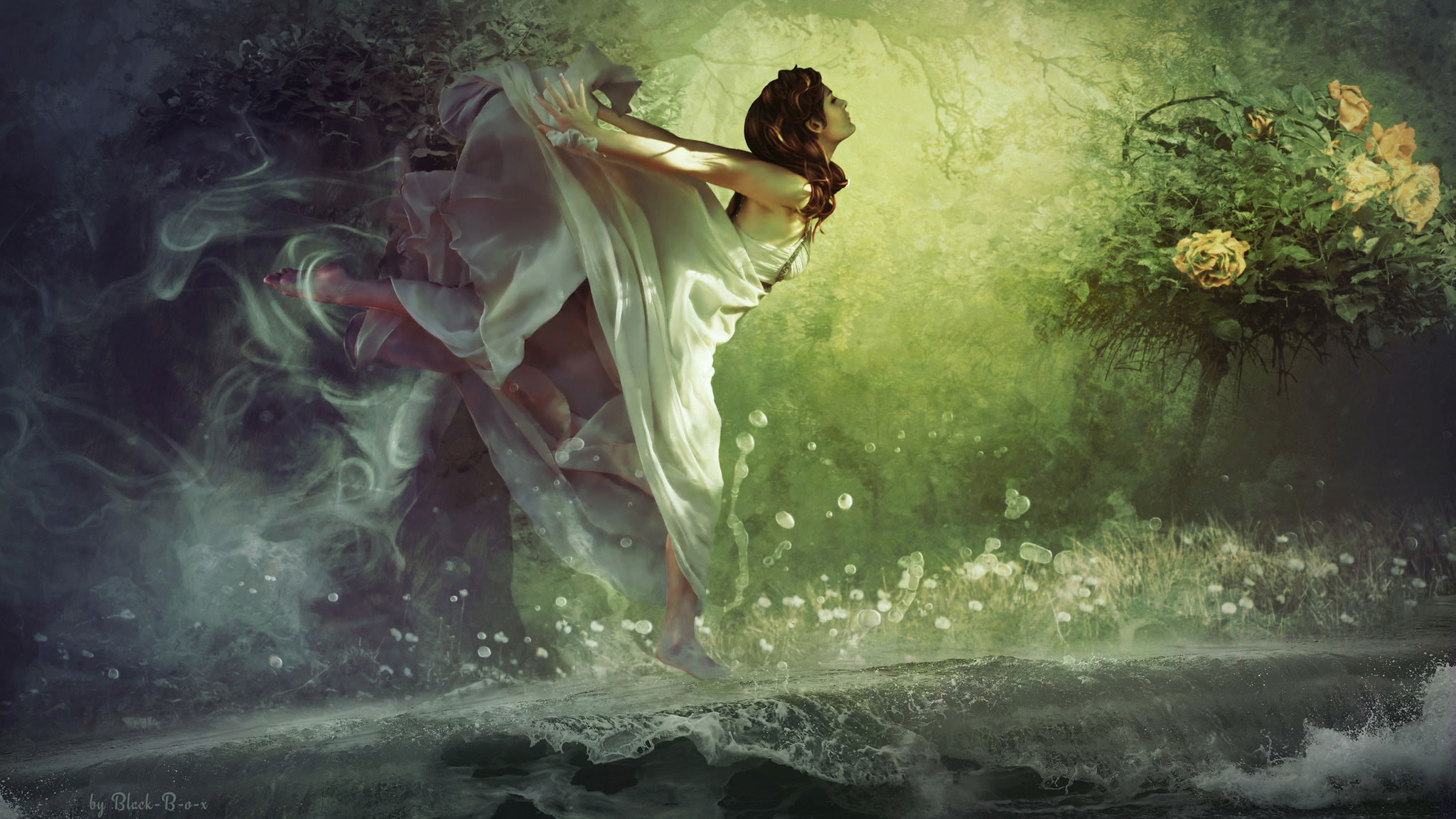 Fantastic Wallpaper Forest Girl - dreamy-forest-girl-fantasy-qu-2048x1152  Gallery_248540 .jpg