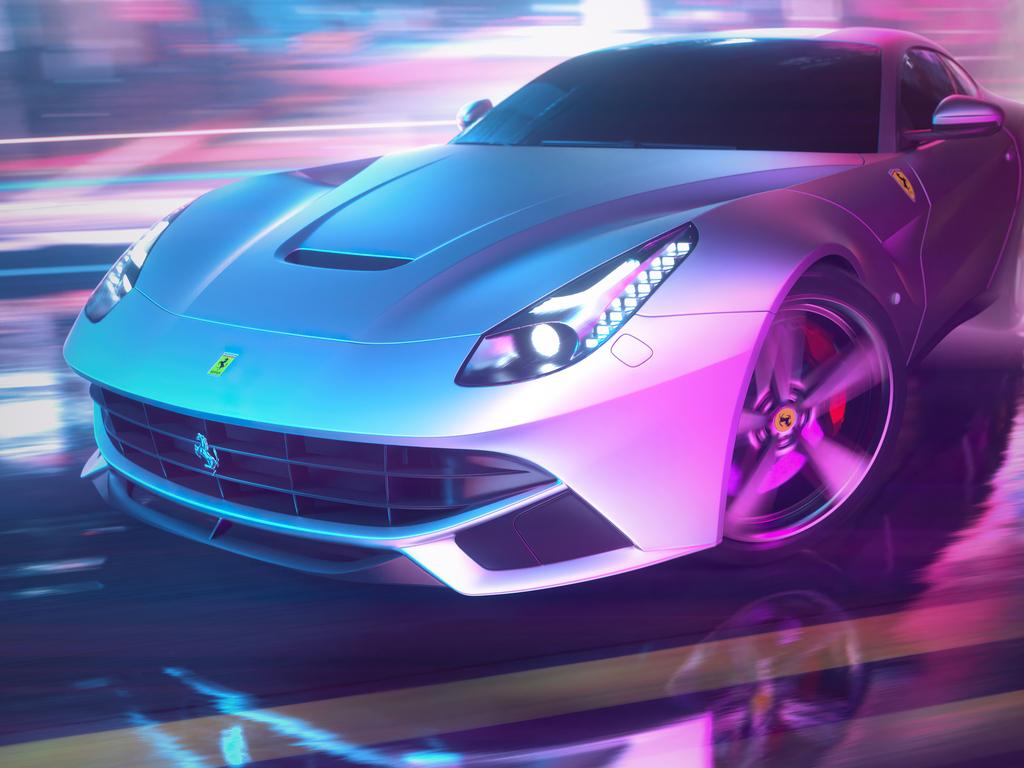 Get Ferrari Deborah 4K Wallpaper  PNG