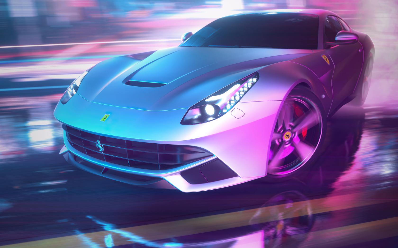 1680x1050 Drifting Ferrari Neon Streets 4k 1680x1050 ...