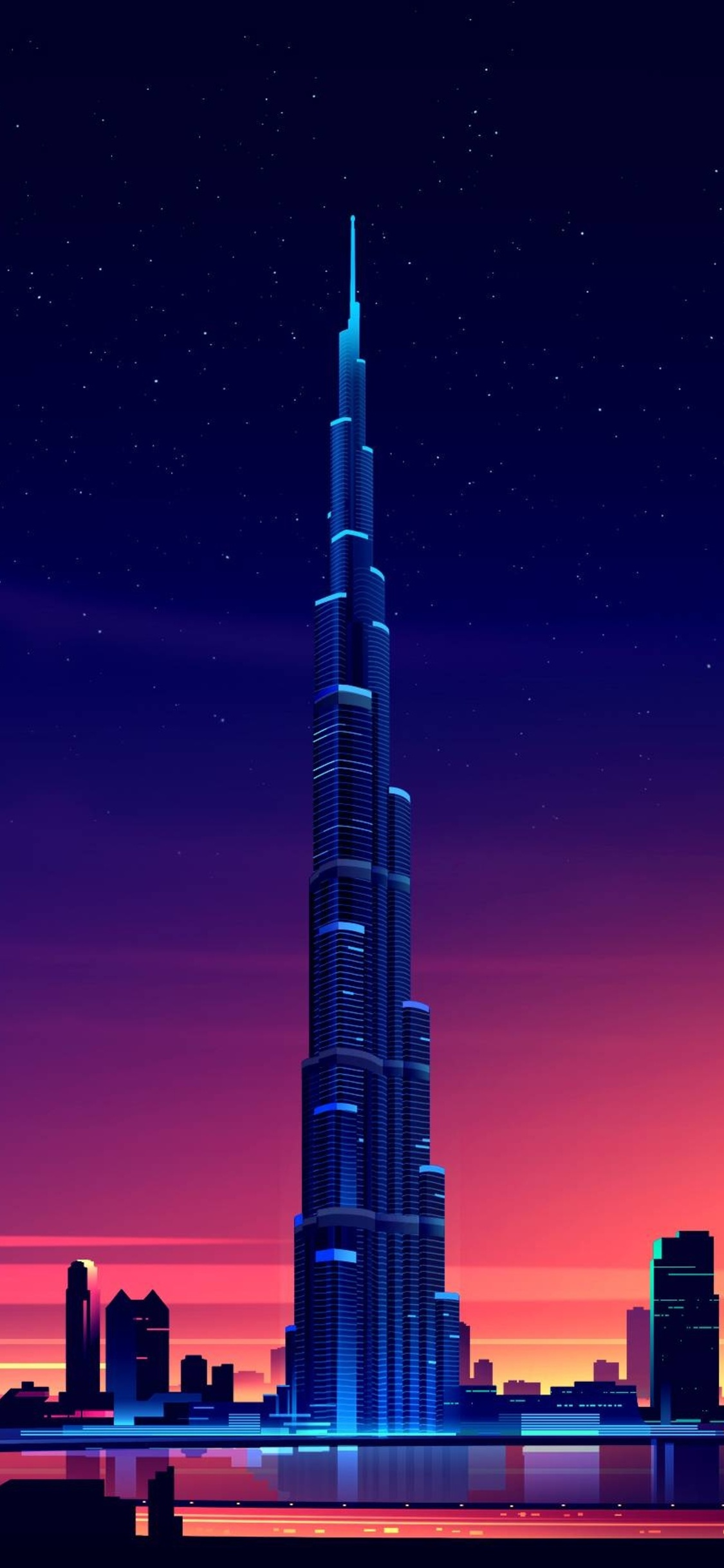 1125x2436 dubai burj khalifa minimalist iphone xs iphone 10 iphone x hd 4k wallpapers images - Dubai burj khalifa hd photos ...