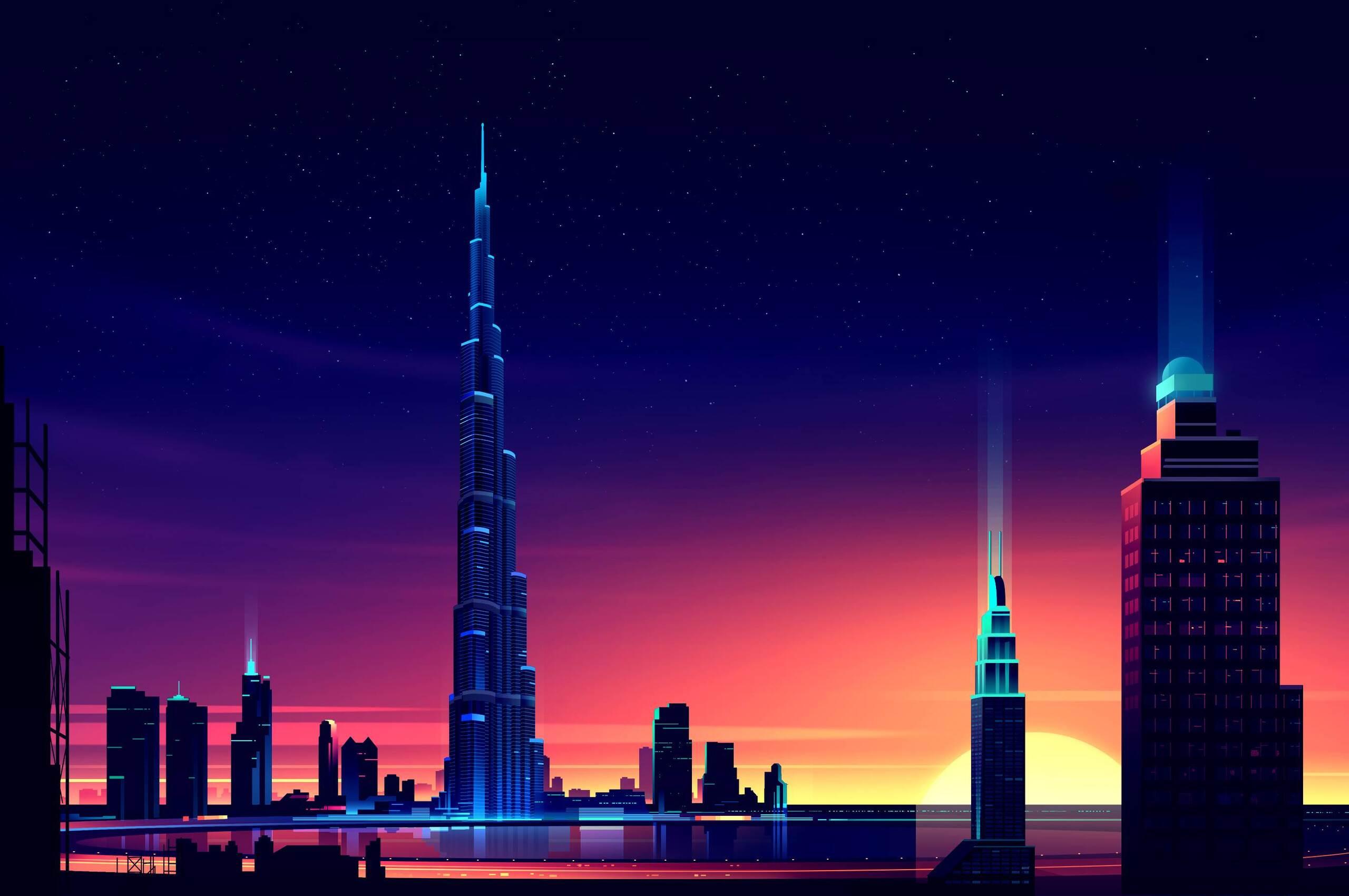 2560x1700 dubai burj khalifa minimalist chromebook pixel hd 4k wallpapers images backgrounds - Dubai burj khalifa hd photos ...