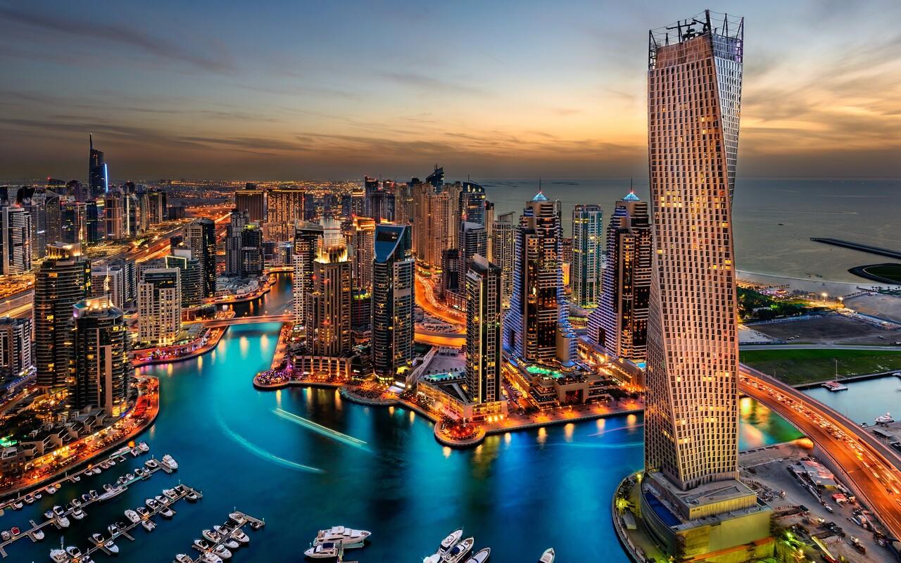 Download Wallpaper Night Dubai - dubai-uae-building-skyscrappers-night-1280x800  2018-3288.jpg