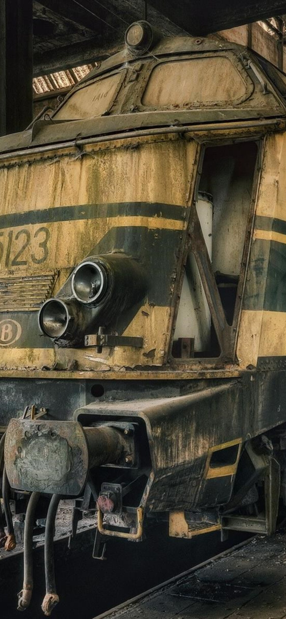 1125x2436 Dusty Old Train Art Iphone Xs Iphone 10 Iphone X