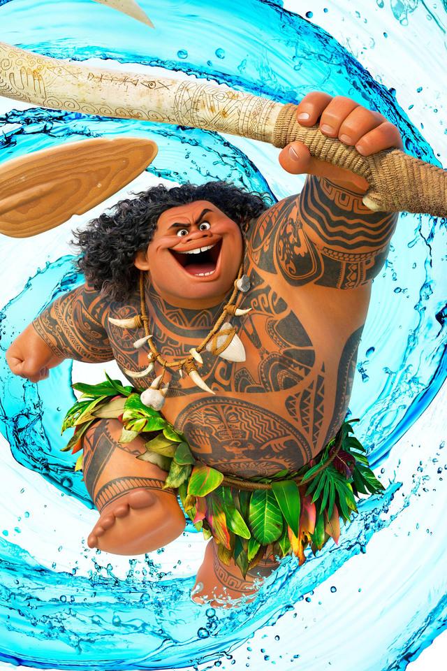 640x960 Dwayne Johnson As Maui Moana Iphone 4 Iphone 4s