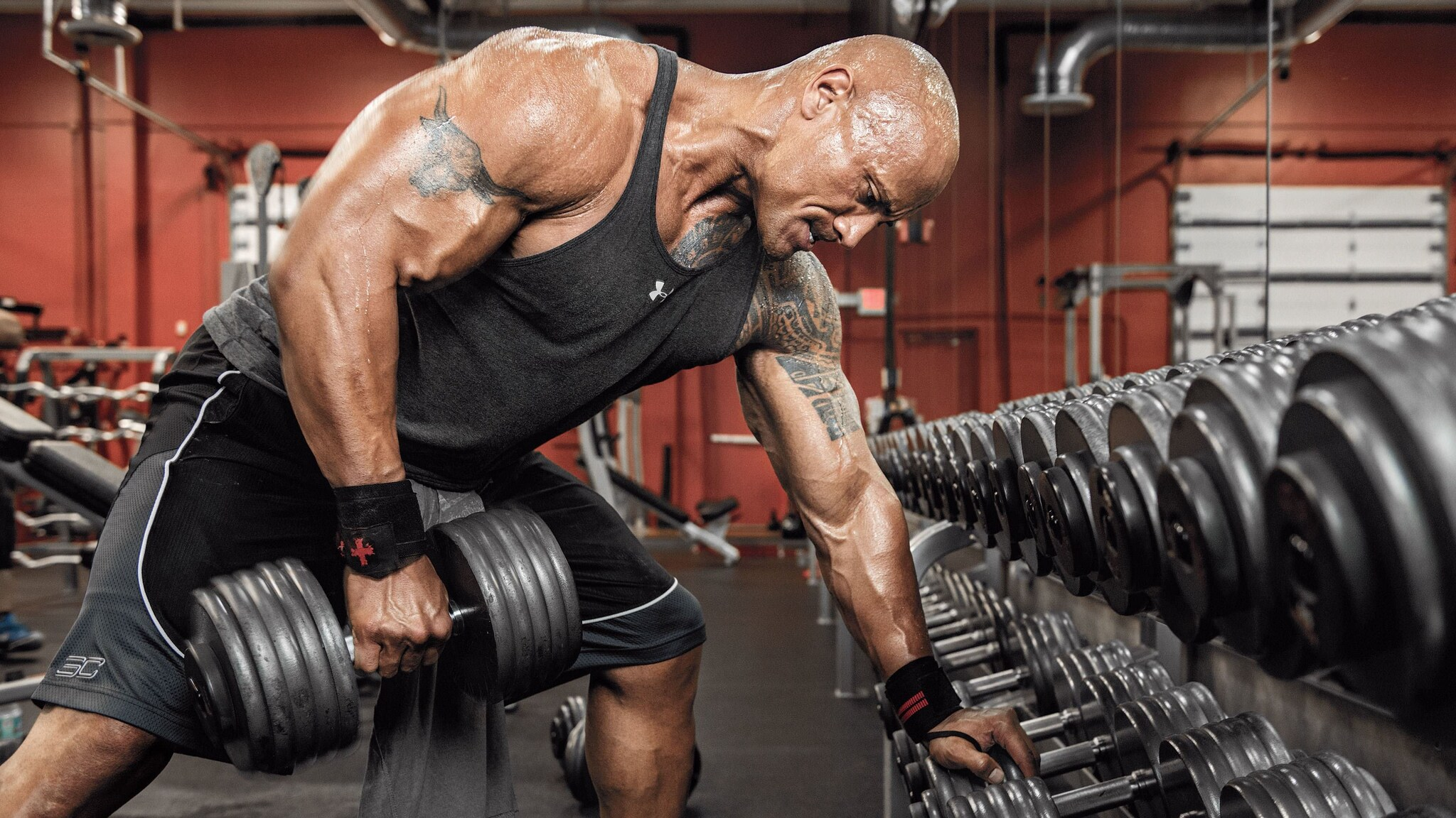 2048x1152 Dwayne Johnson Workout 2048x1152 Resolution Hd 4k Wallpapers Images Backgrounds Photos And Pictures