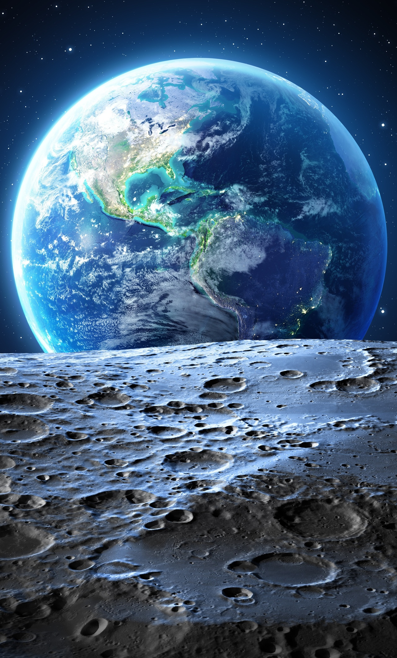 1280x2120 Earth Moon 4k iPhone 6+ HD 4k Wallpapers, Images ...