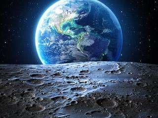earth moon 4k ri