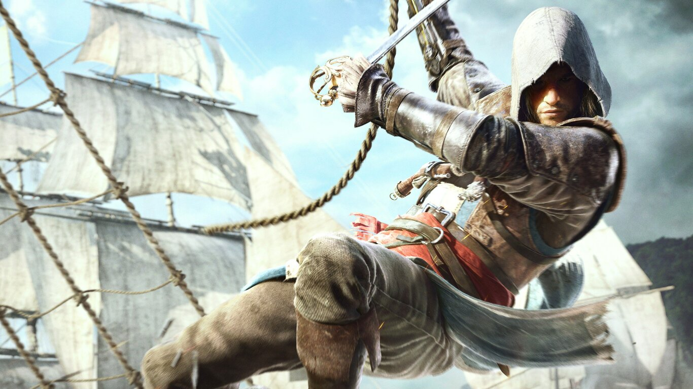 1366x768 edward kenway in assassins creed 4 1366x768 resolution hd