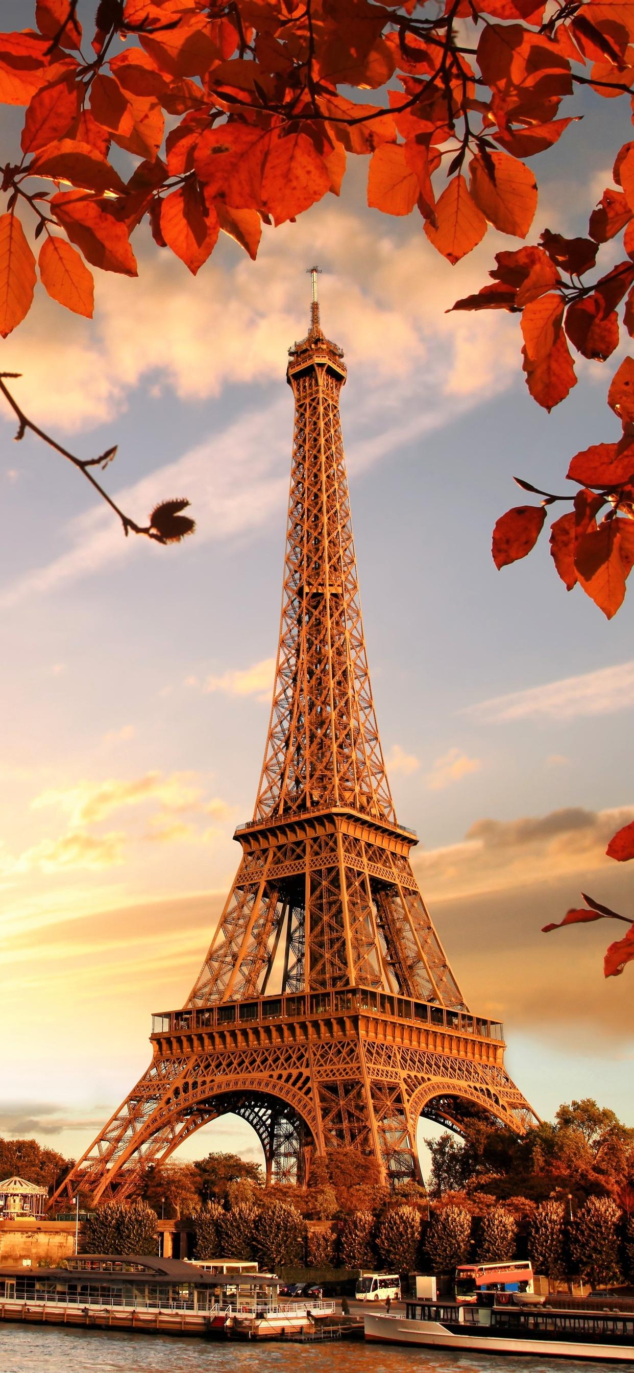 1242x2688 Eiffel Tower Autumn Season 4k 5k Iphone Xs Max Hd