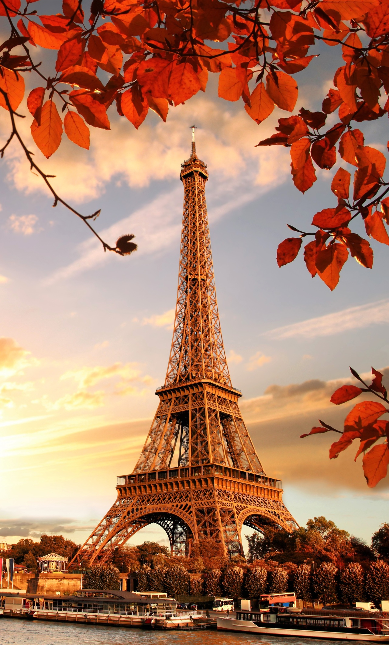 1280x2120 Eiffel Tower Autumn Season 4k 5k Iphone 6 Hd 4k