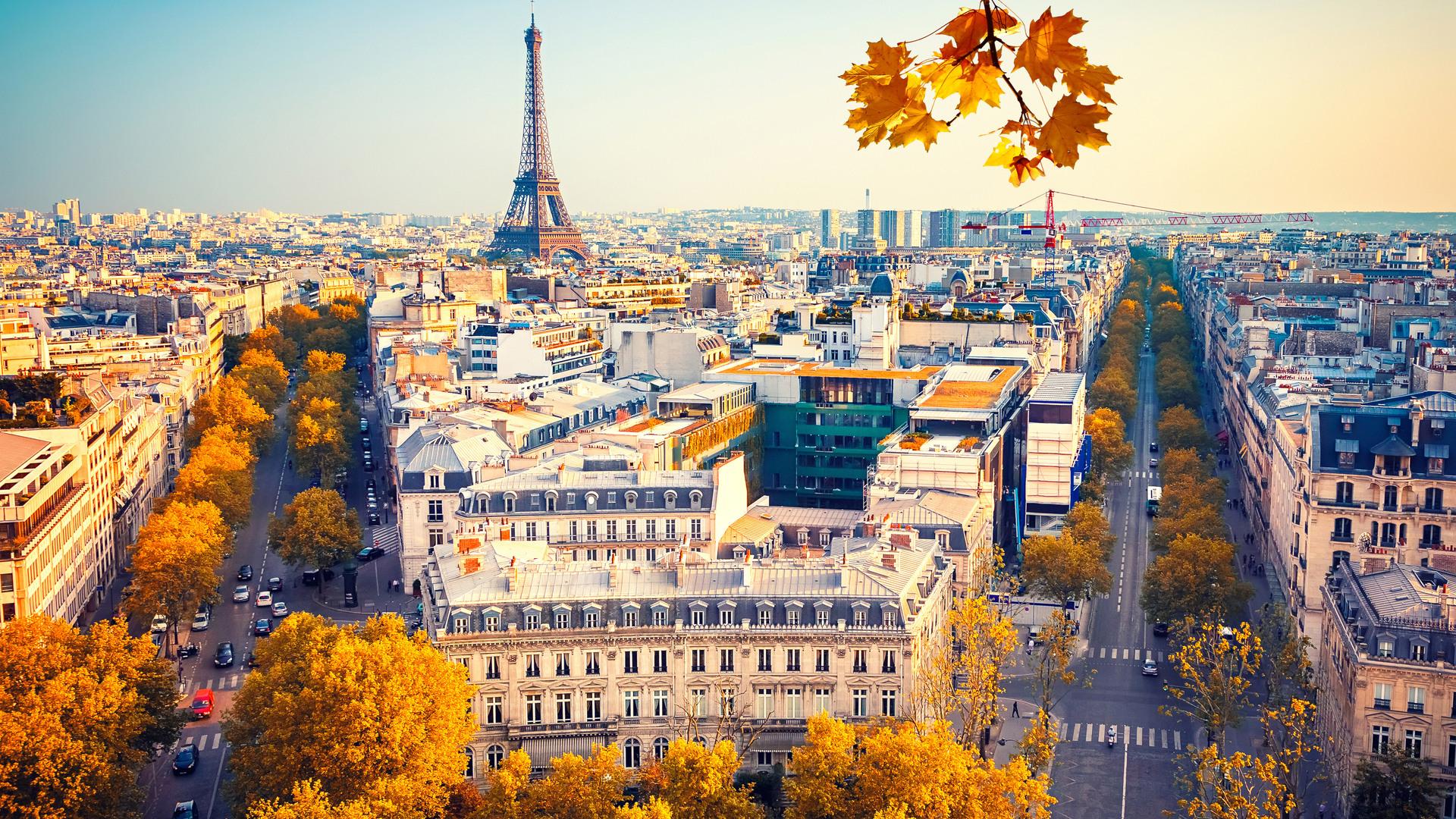 1920x1080 Eiffel Tower Paris City Autumn 4k 5k Laptop Full Hd 1080p