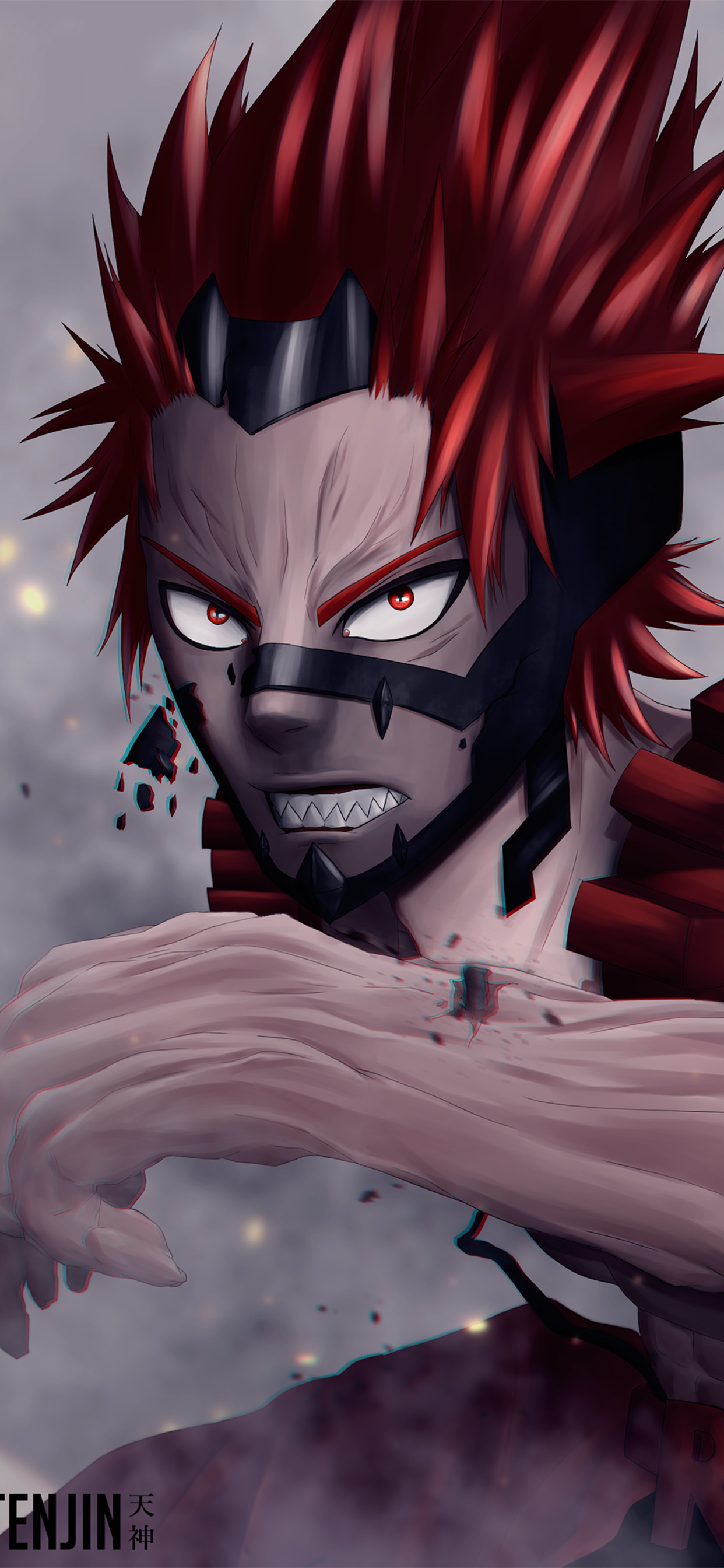 1242x2688 Eijiro Kirishima My Hero Academia 4k Iphone Xs Max Hd 4k