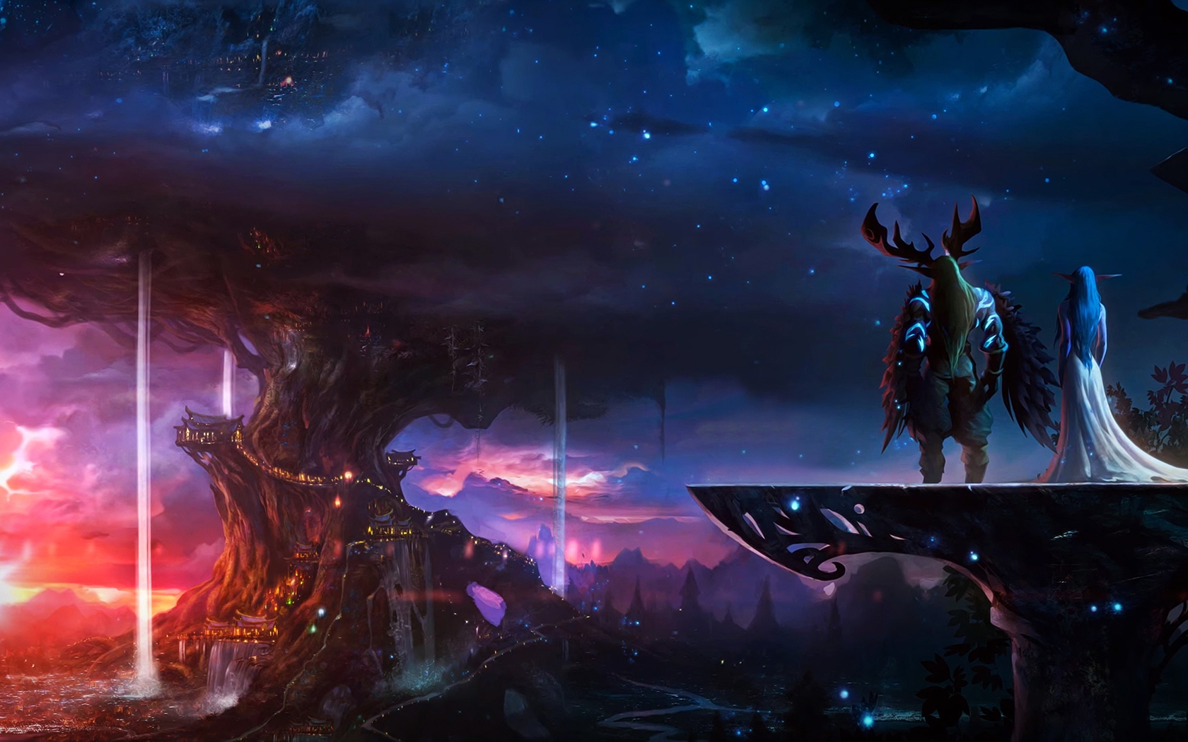 1680x1050 Elf And Knight World Of Warcraft 1680x1050 Resolution Hd