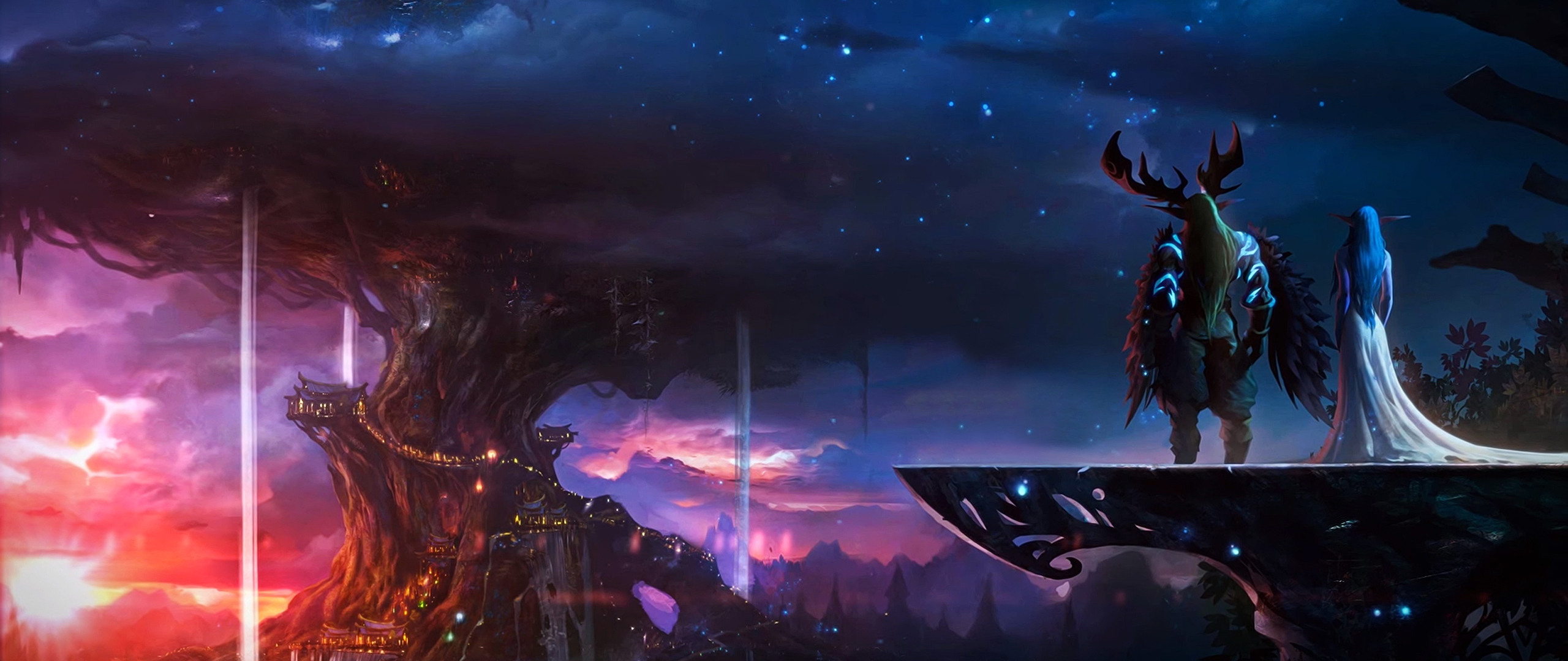 2560x1080 Elf And Knight World Of Warcraft 2560x1080 Resolution Hd