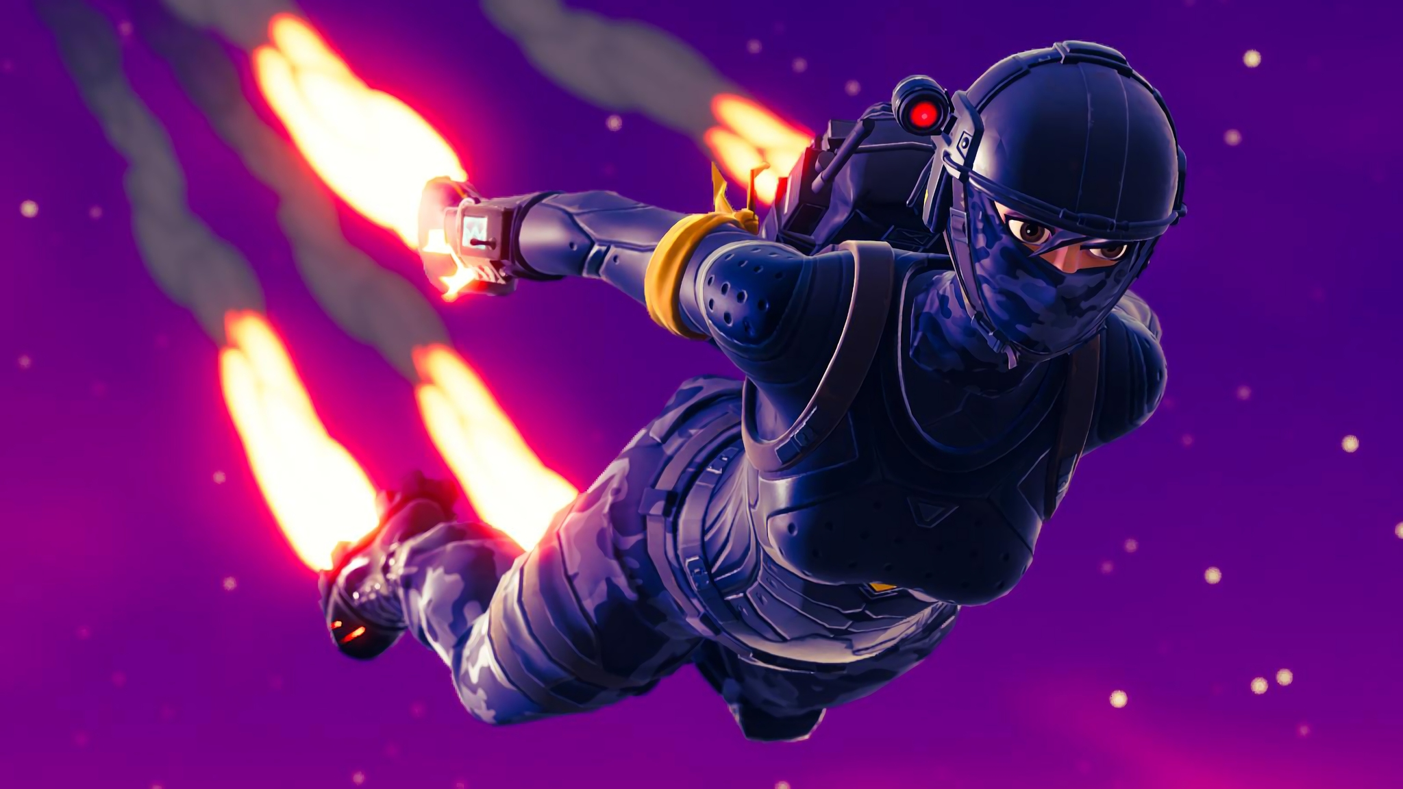 2048x1152 Elite Agent Skydive Fortnite Battle Royale