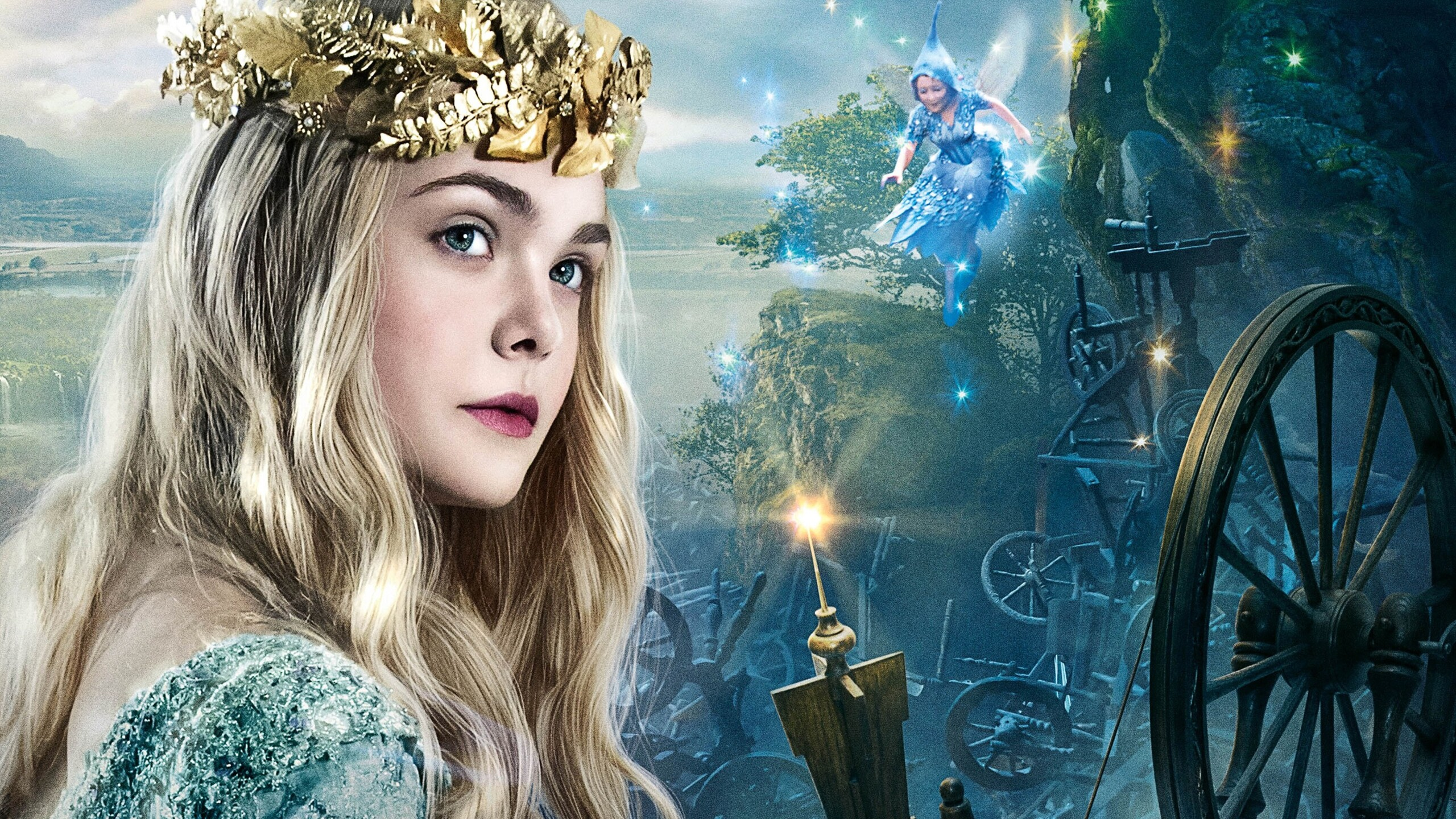 2560x1440 Elle Fanning As Princess Aurora 1440P Resolution ...