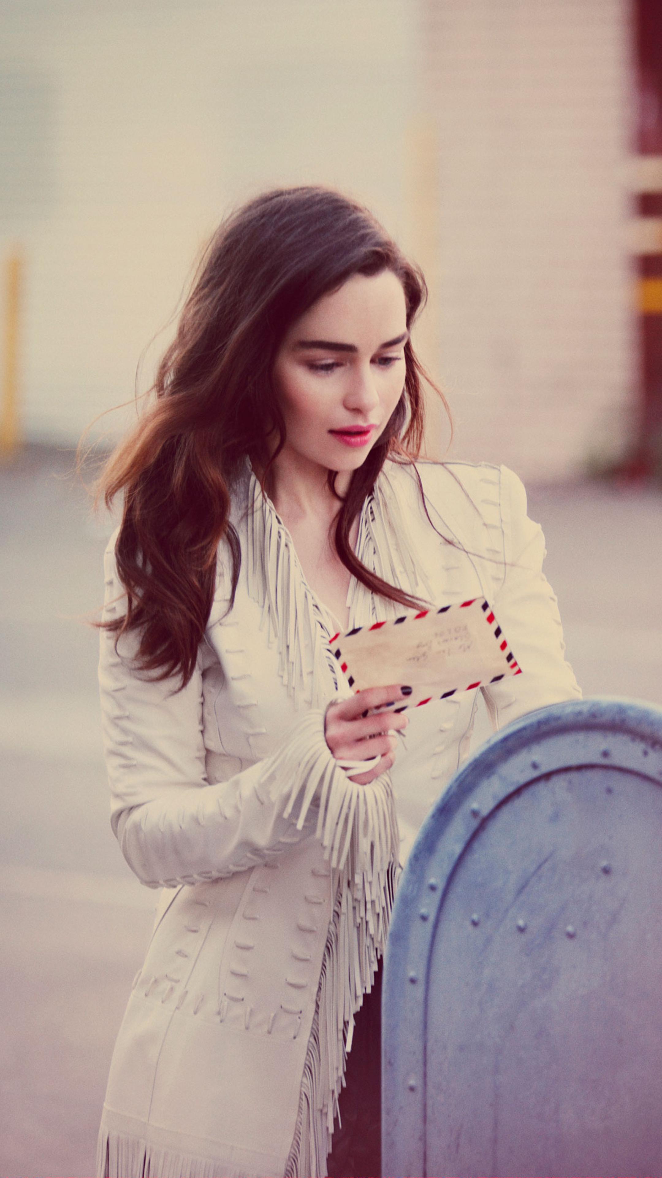 2160x3840 Emilia Clarke 2020 Photoshoot Sony Xperia X,XZ
