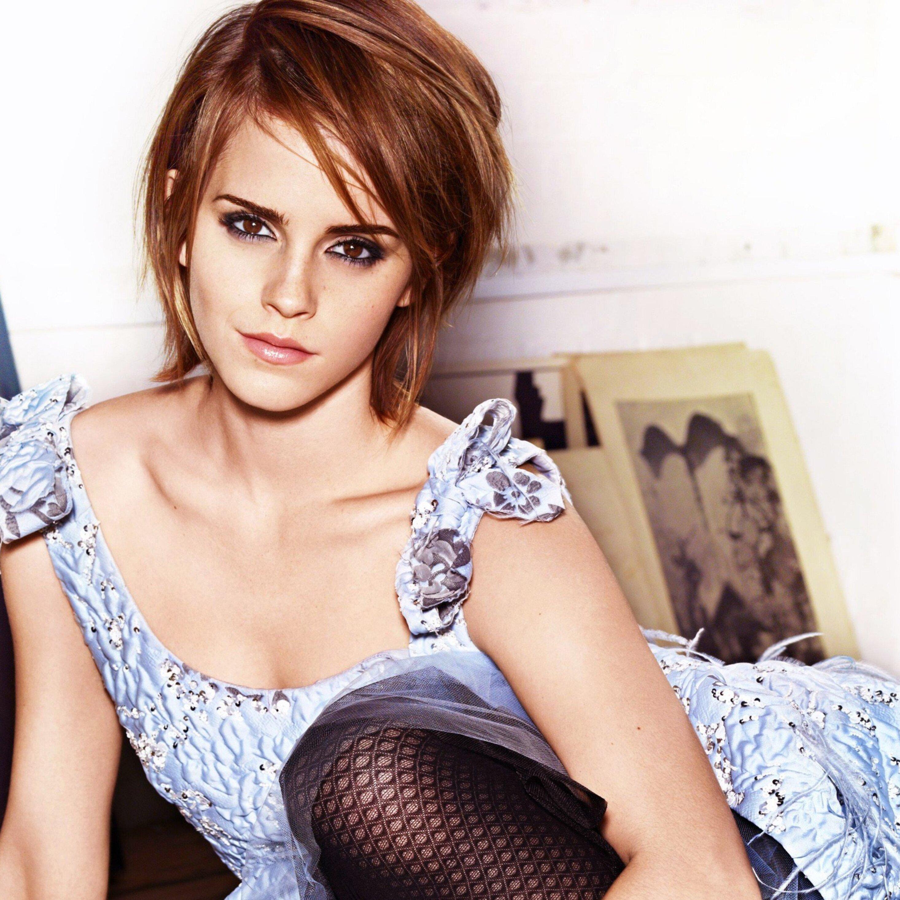 2932x2932 Emma Watson Hot Ipad Pro Retina Display HD 4k