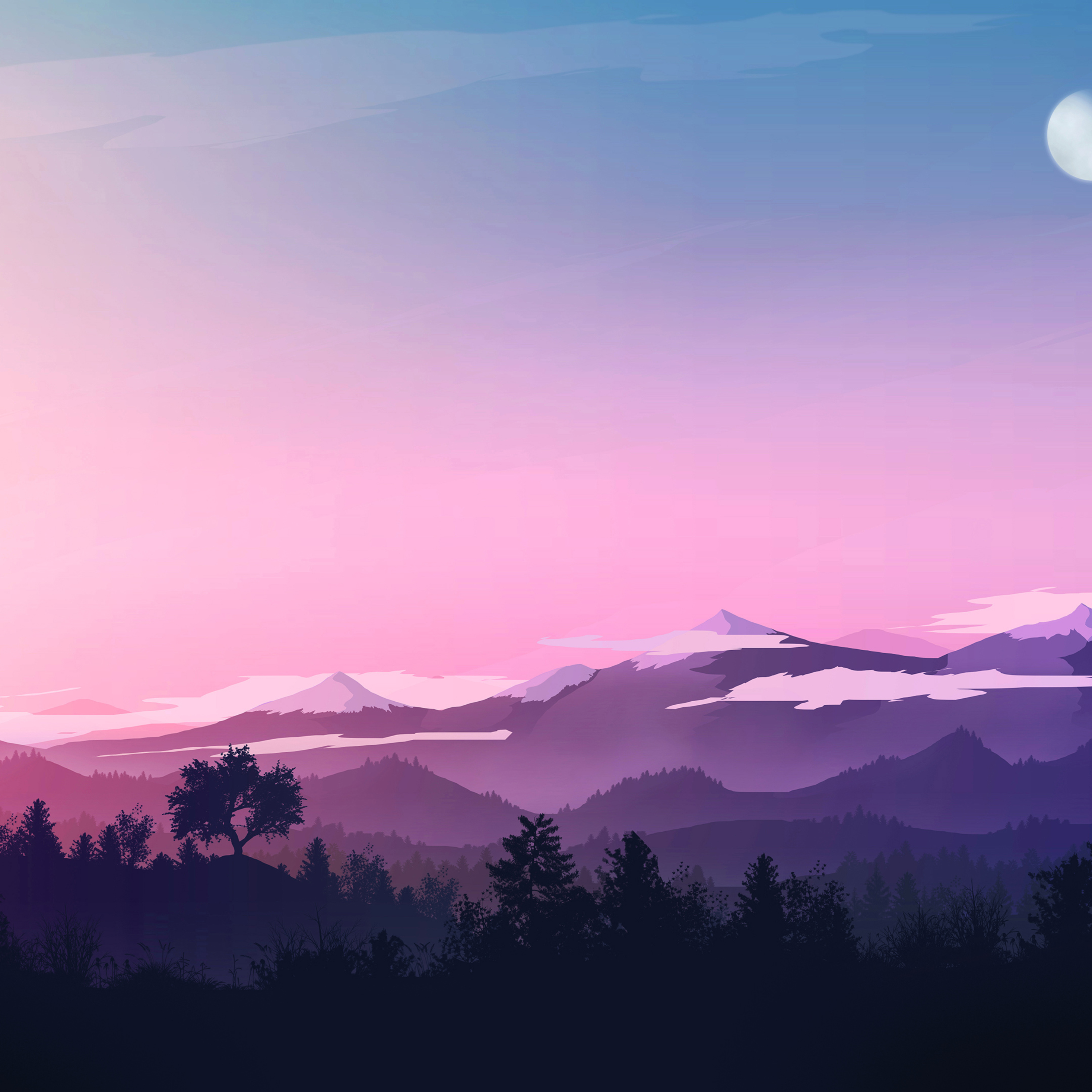 2932x2932 Evening Landscape Minimal 4k Ipad Pro Retina Display Hd 4k Wallpapers Images Backgrounds Photos And Pictures