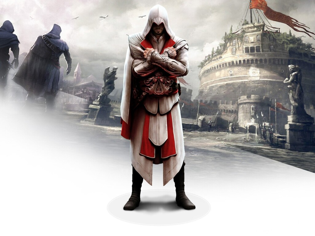 1024x768 Ezio In Assassins Creed Brotherhood 1024x768 Resolution Hd 4k Wallpapers Images Backgrounds Photos And Pictures