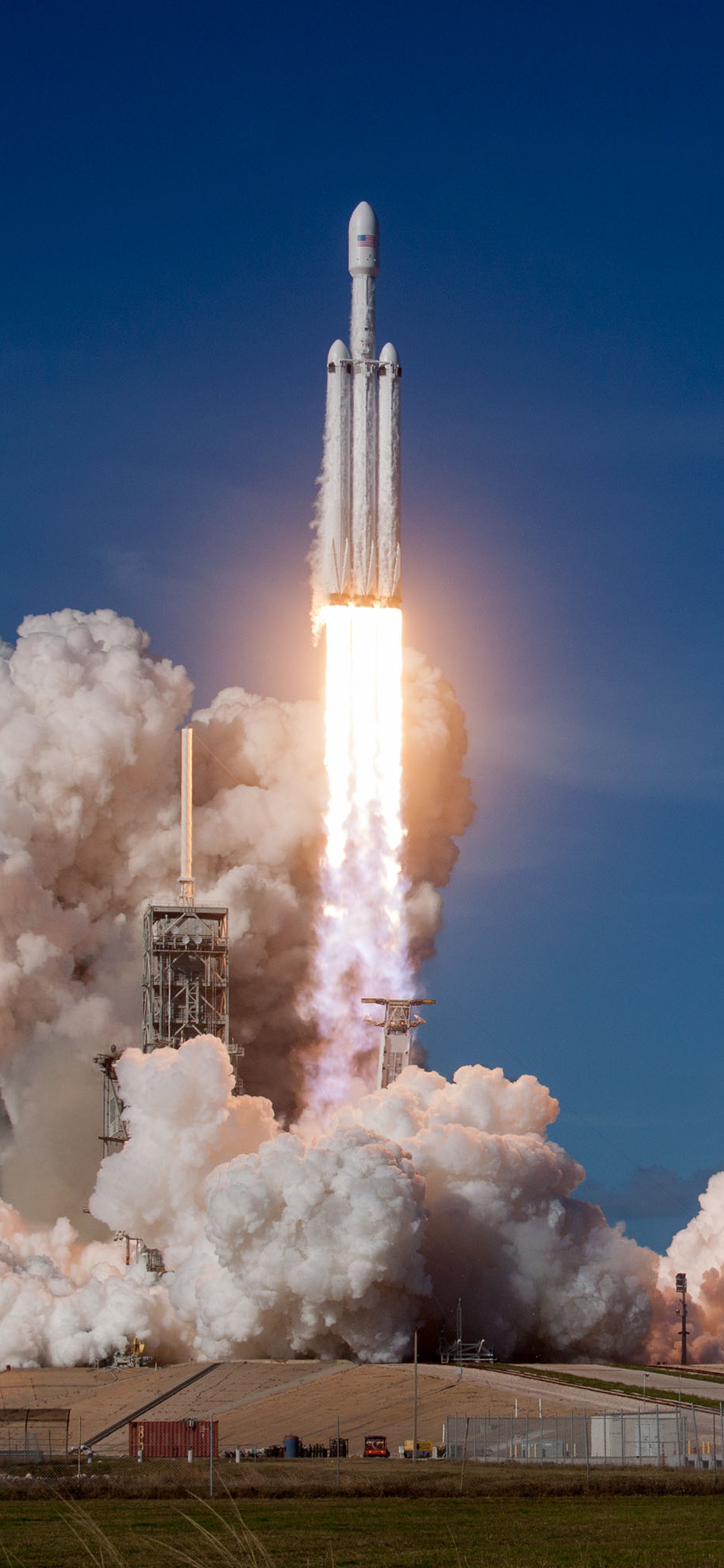 1125x2436 Falcon Heavy Space X 2018 Iphone XIphone 10 HD 4k Wallpapers Images Backgrounds Photos And Pictures