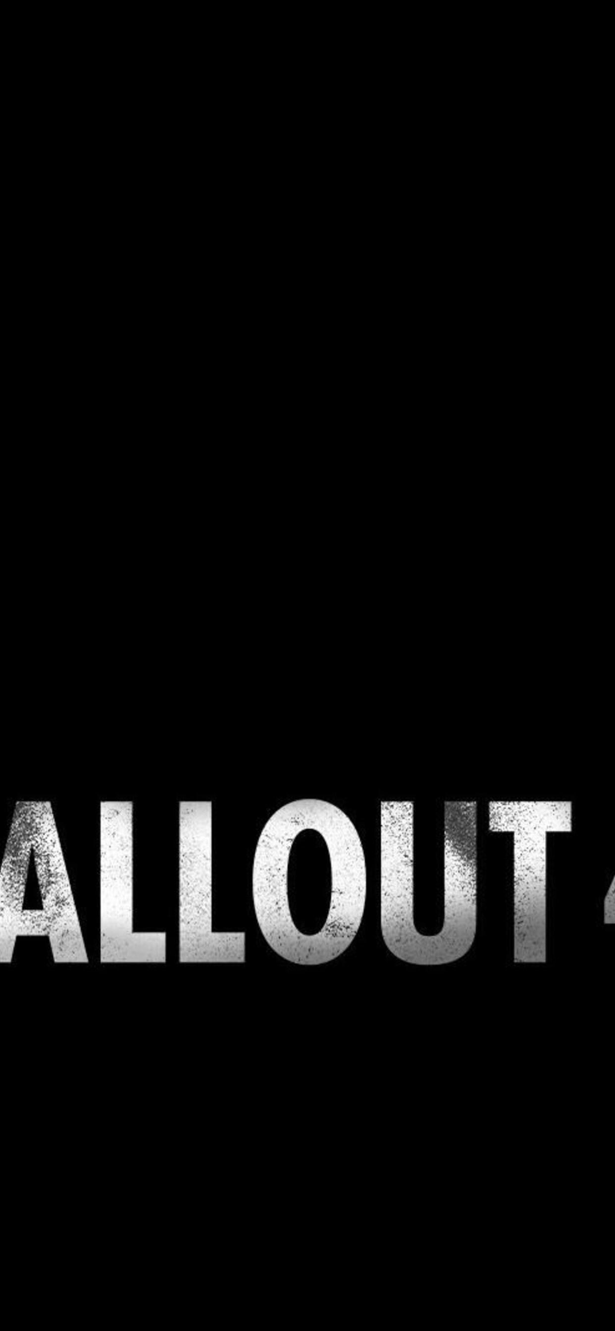 1242x2688 Fallout 4 Logo Iphone Xs Max Hd 4k Wallpapers