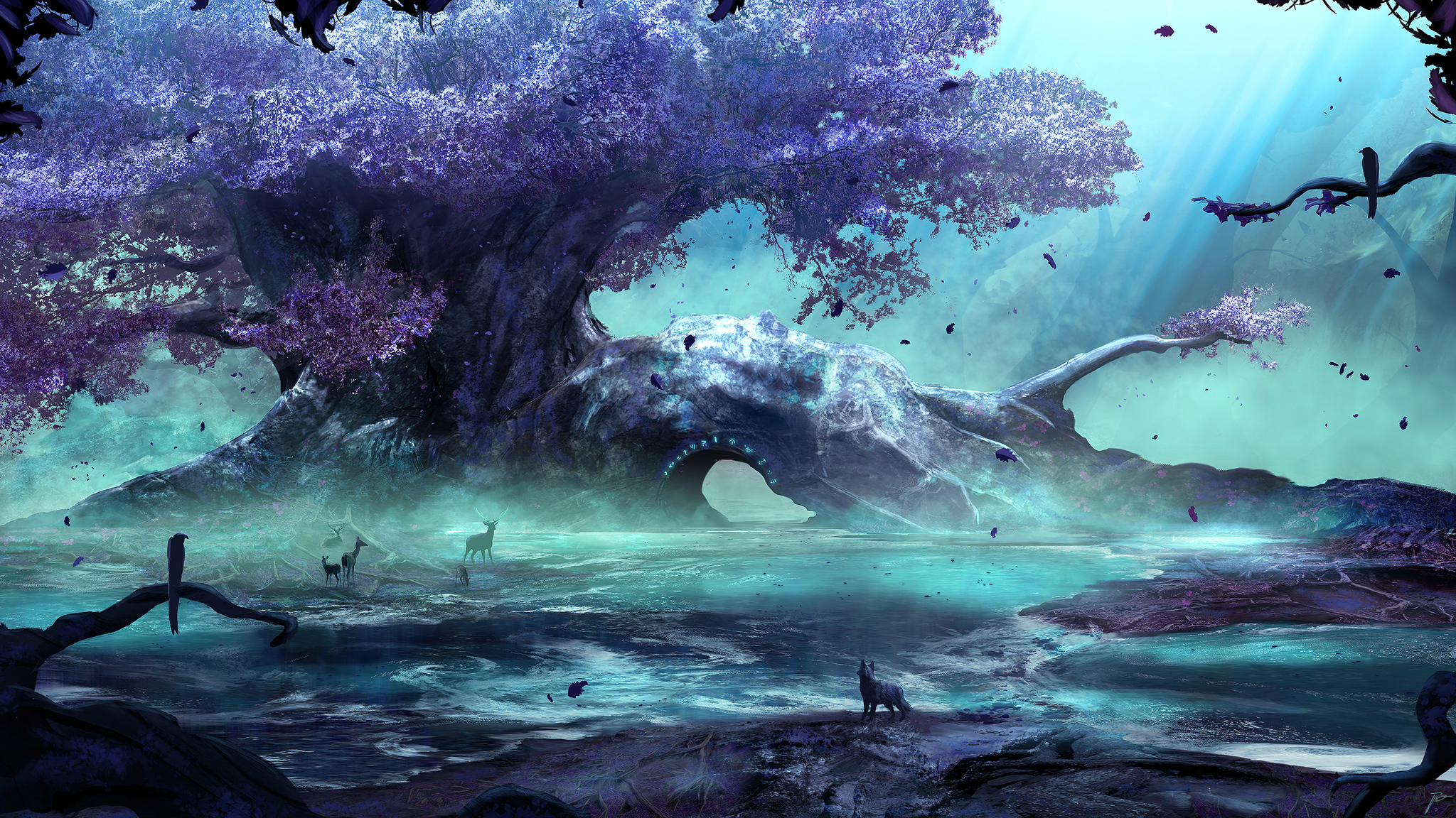 2048x1152 Fantasy Art Creatures Forest 4k 2048x1152 Resolution Hd 4k Wallpapers Images Backgrounds Photos And Pictures