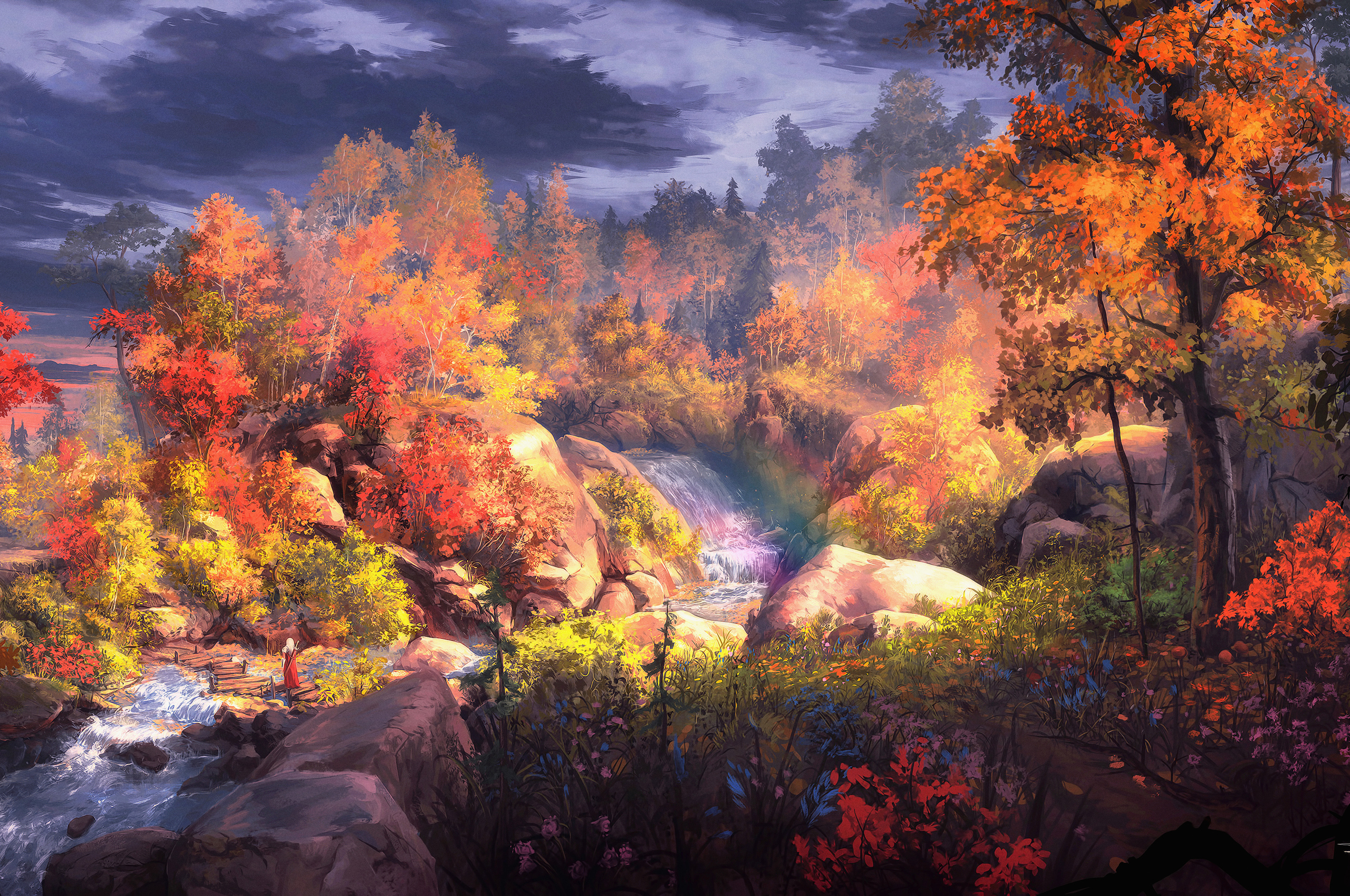 2560x1700 Fantasy Autumn Painting 4k ...