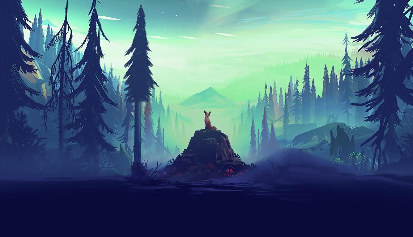 1336x768 fantasy fox landscape tree laptop hd hd 4k wallpapers
