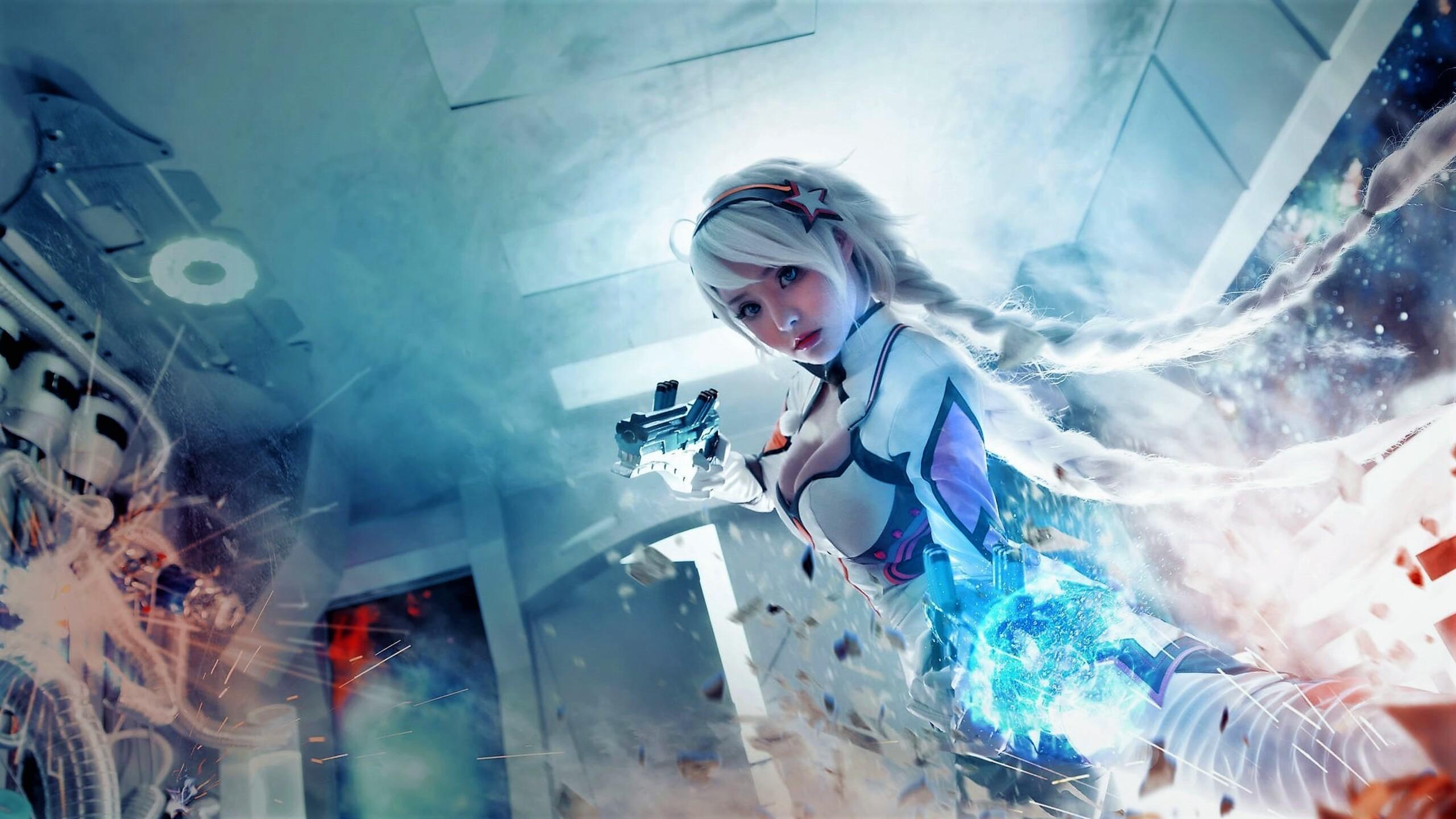 2560x1440 Fantasy Girl Futuristic Warrior Women 1440p Resolution