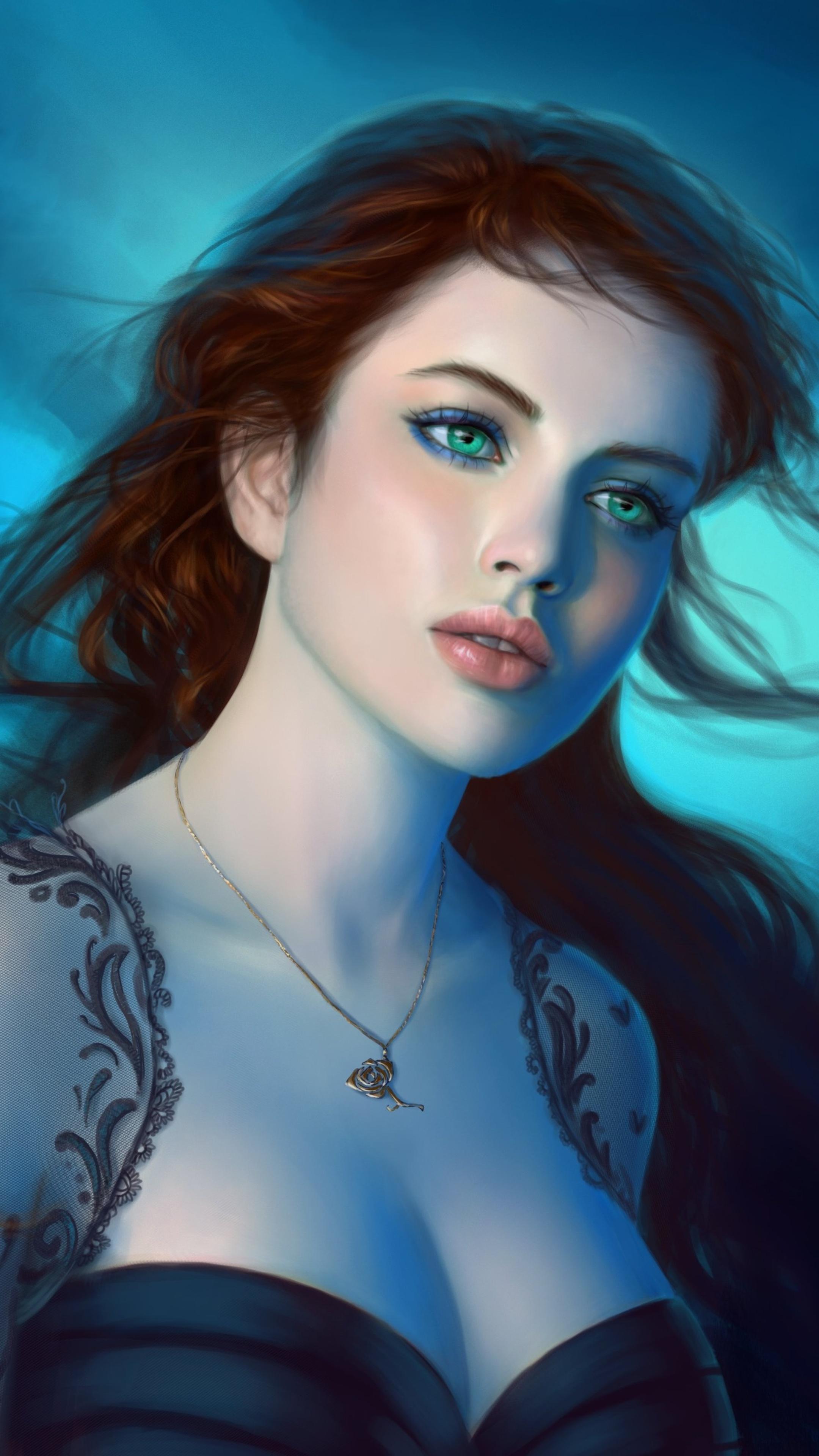 2160x3840 Fantasy Girl Green Eyes Sony Xperia X,XZ,Z5