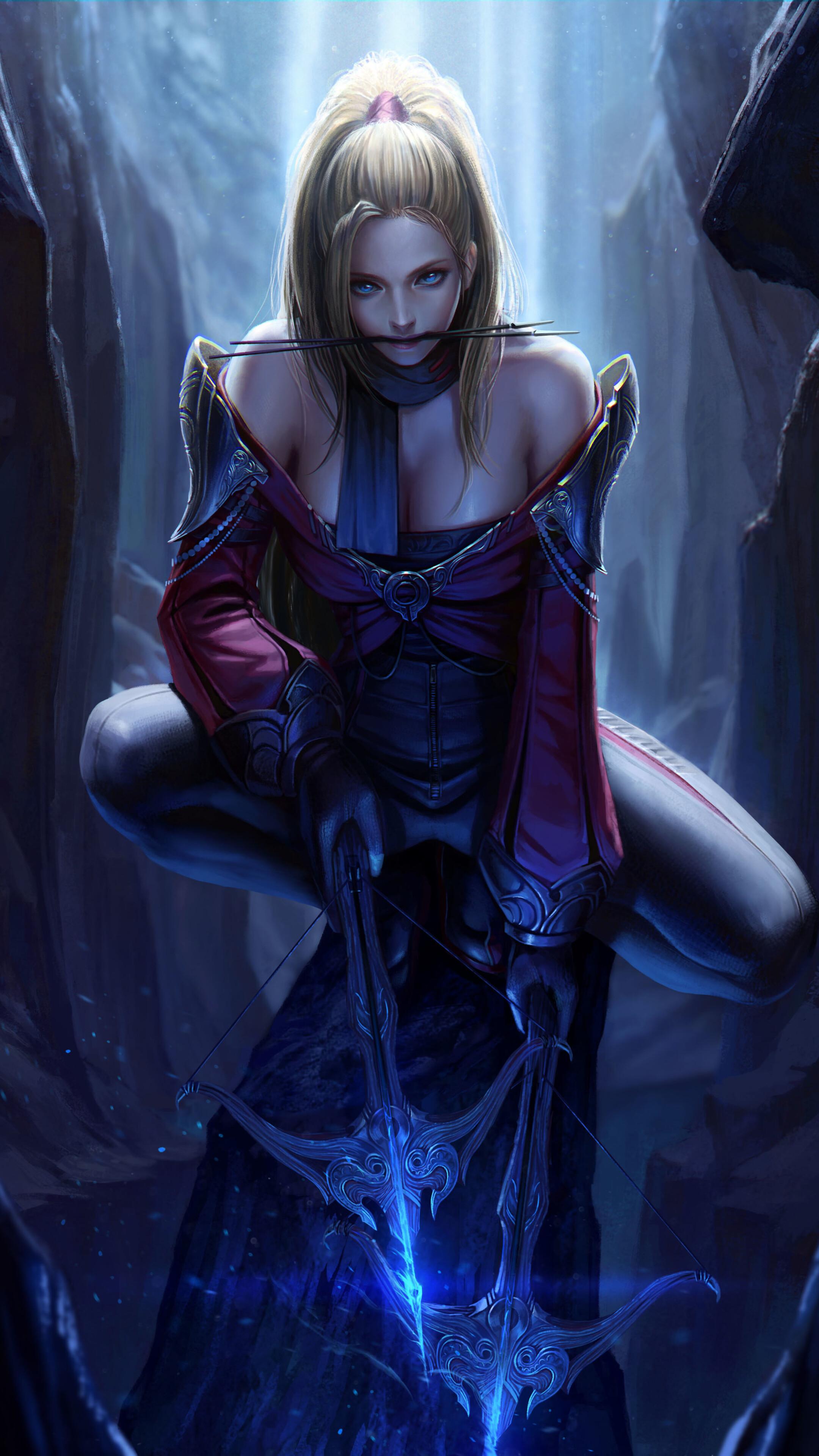 2160x3840 fantasy girl with archer crossbow sony xperia x - Art wallpaper 2160x3840 ...