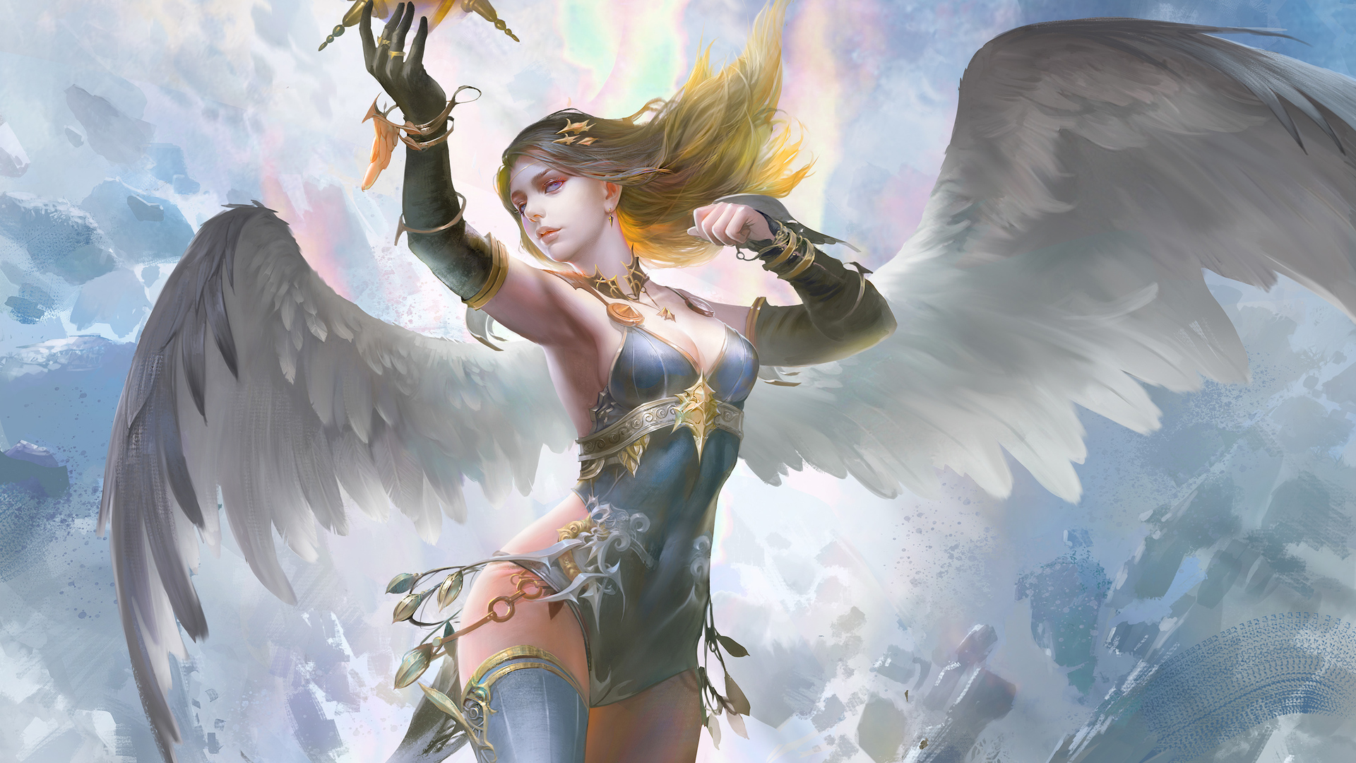 1920x1080 Fantasy Girl With Wings Laptop Full HD 1080P HD ...