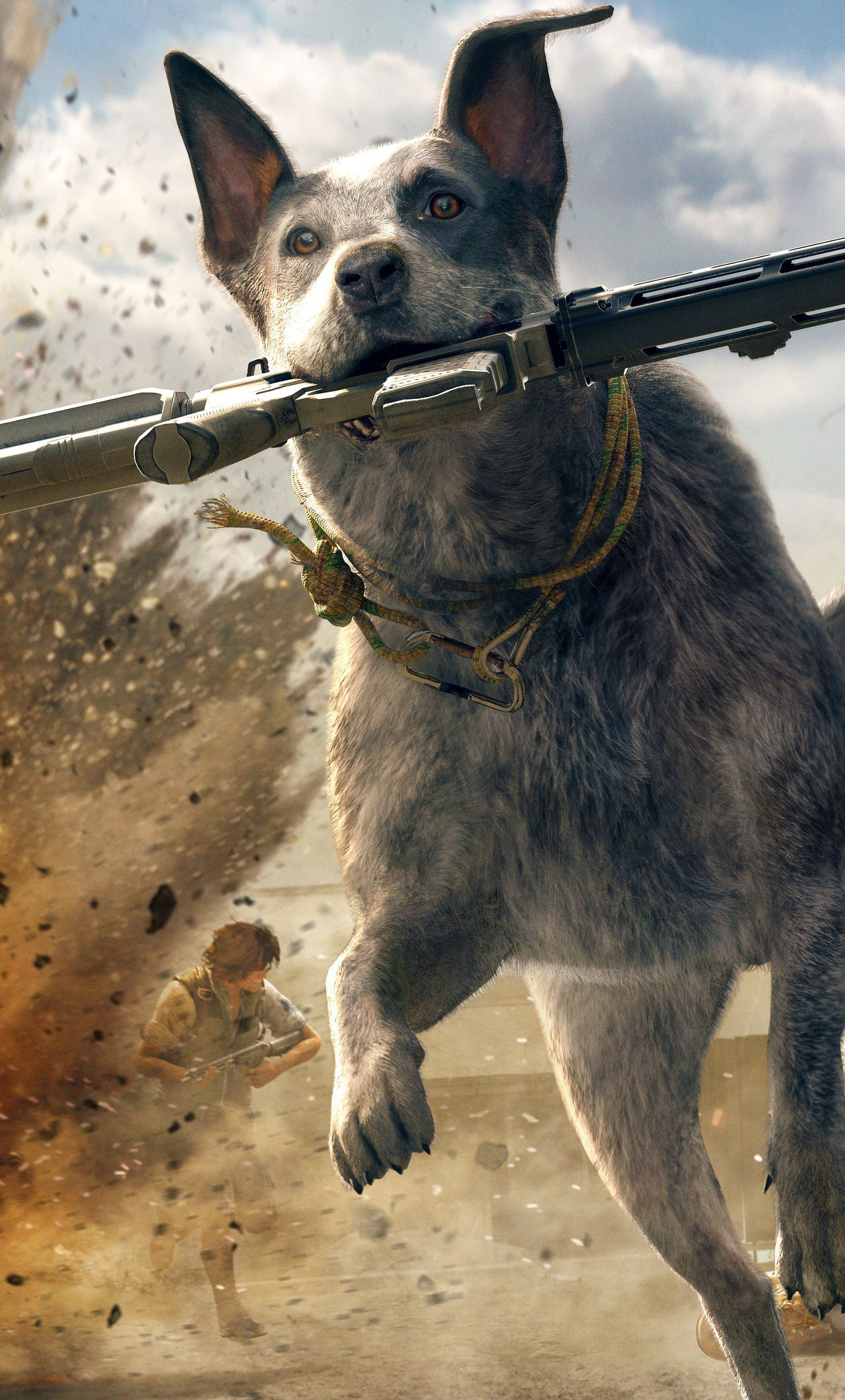 1280x2120 Far Cry 5 Australian Cattle Dog 5k Iphone 6 Hd 4k