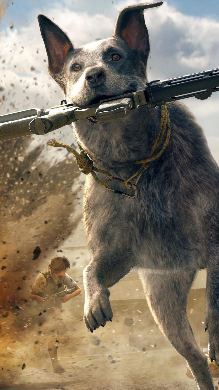 750x1334 Far Cry 5 Australian Cattle Dog 5k Iphone 6 Iphone 6s