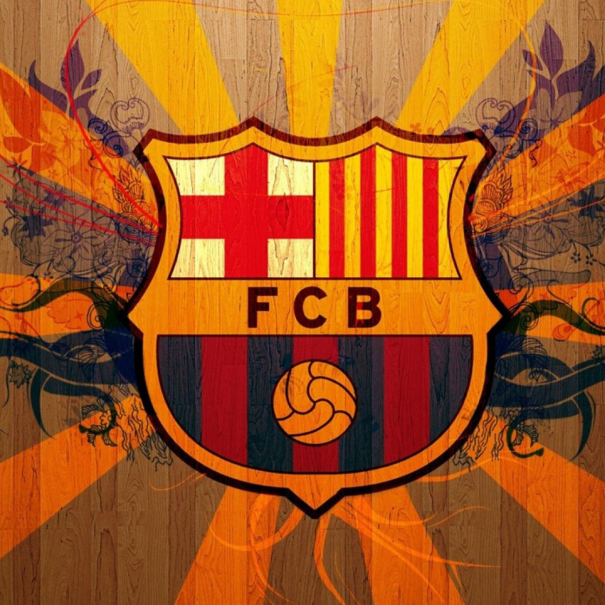 2048x2048 Fc Barcelona Logo Ipad Air Hd 4k Wallpapers Images
