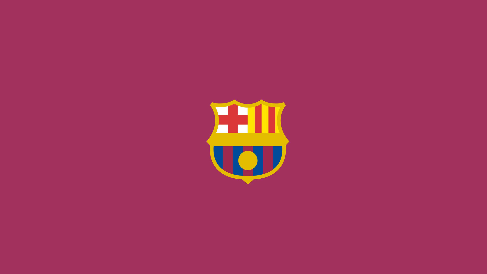 2048x1152 Fc Barcelona Logo Minimalism 2048x1152 Resolution Hd 4k Wallpapers Images