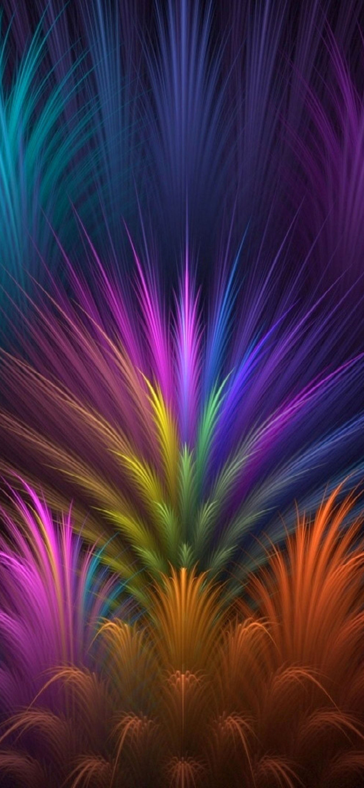1242x2688 Feathers Colorful Petals Iphone Xs Max Hd 4k Wallpapers