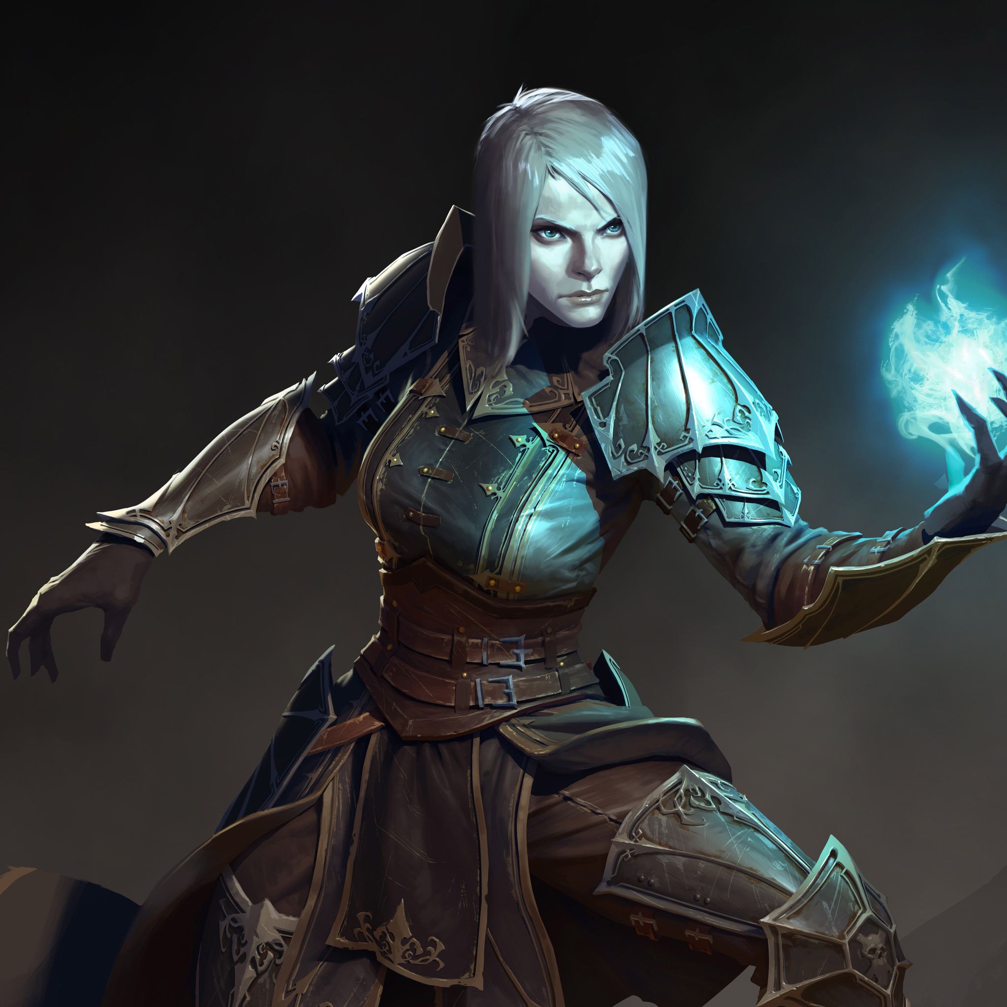 Diablo 3 Wallpaper 1920x1080: 2048x2048 Female Necromancer Diablo III Ipad Air HD 4k