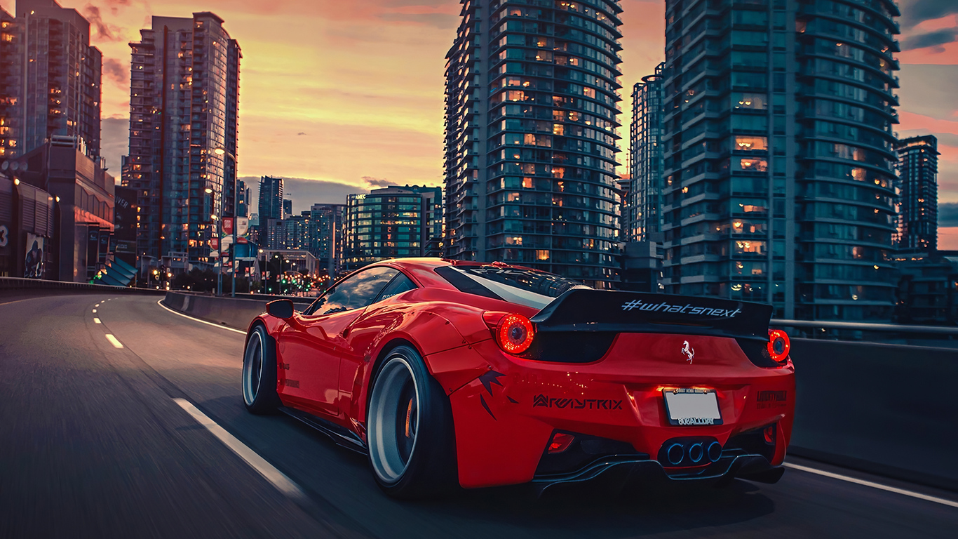 1366x768 Ferrari 458 City 4k 1366x768 Resolution Hd 4k Wallpapers Images Backgrounds Photos And Pictures
