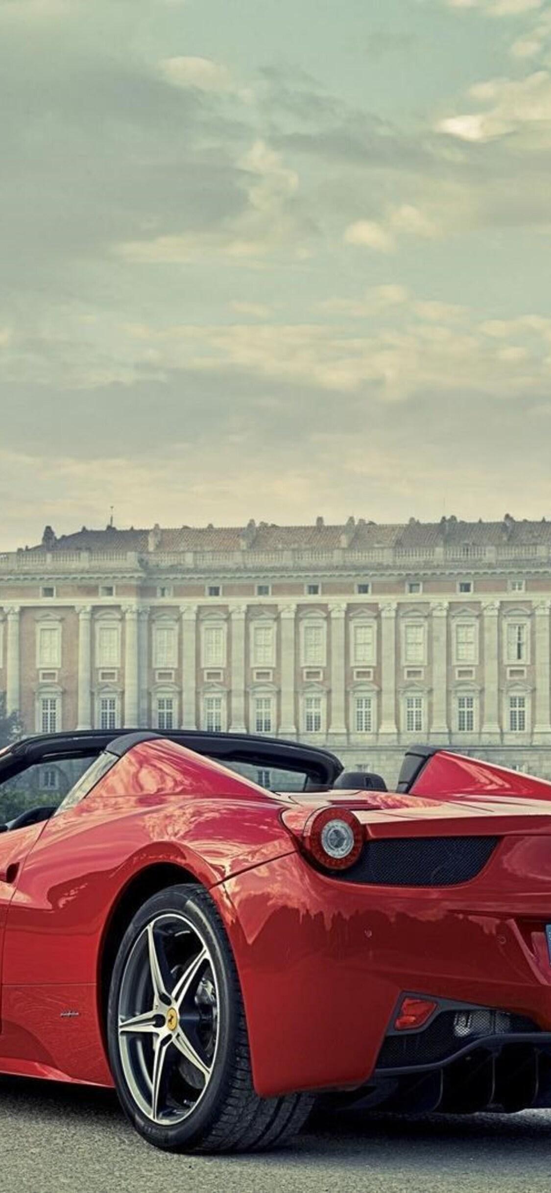 1125x2436 Ferrari 458 Italia Red Iphone Xs Iphone 10 Iphone X Hd 4k